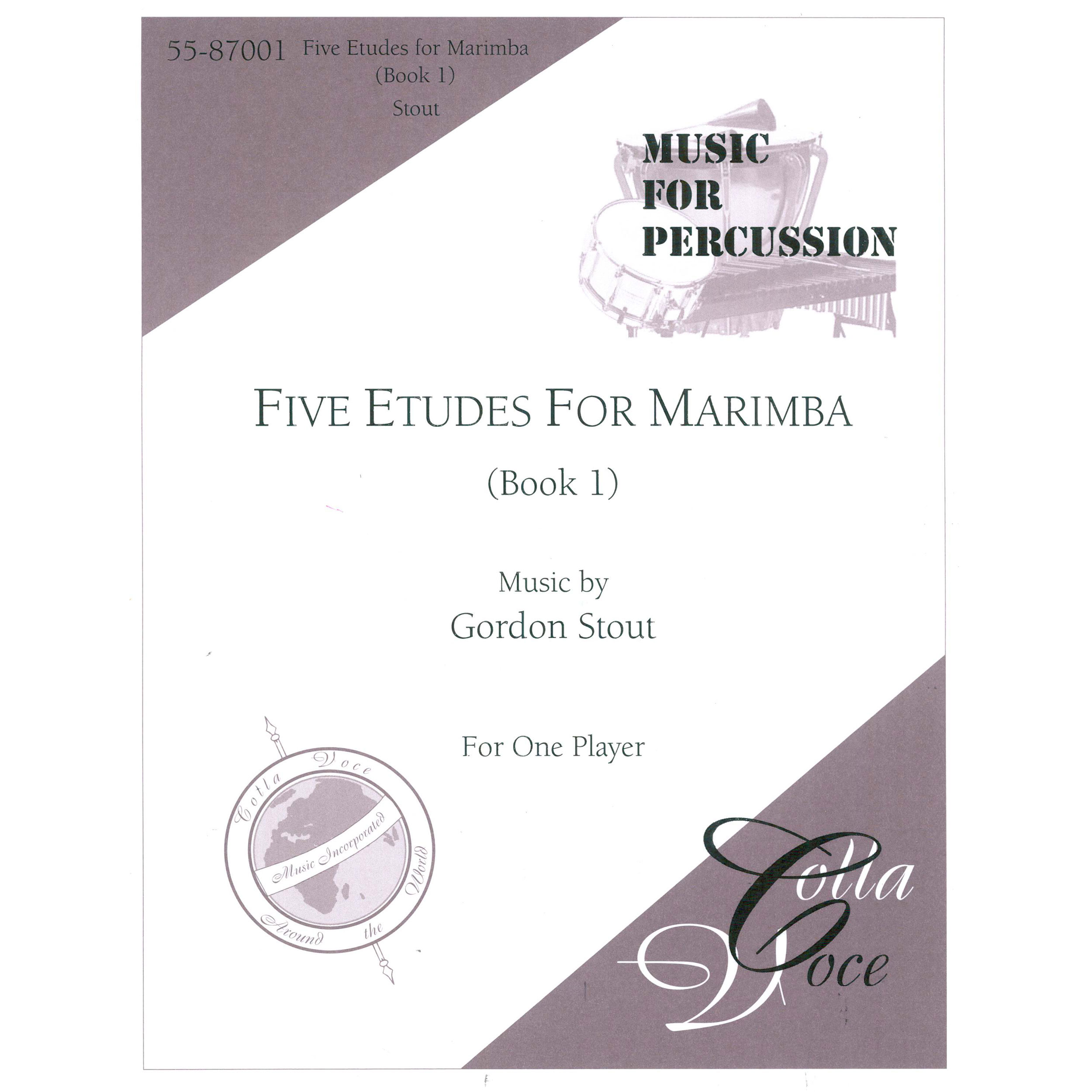 Etudes for Marimba, Book 1 by Gordon Stout