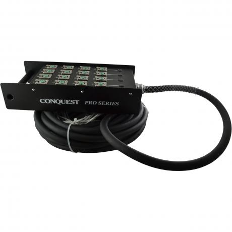 Conquest ProSeries 50' XLR to Drop Box 16-Channel Snake