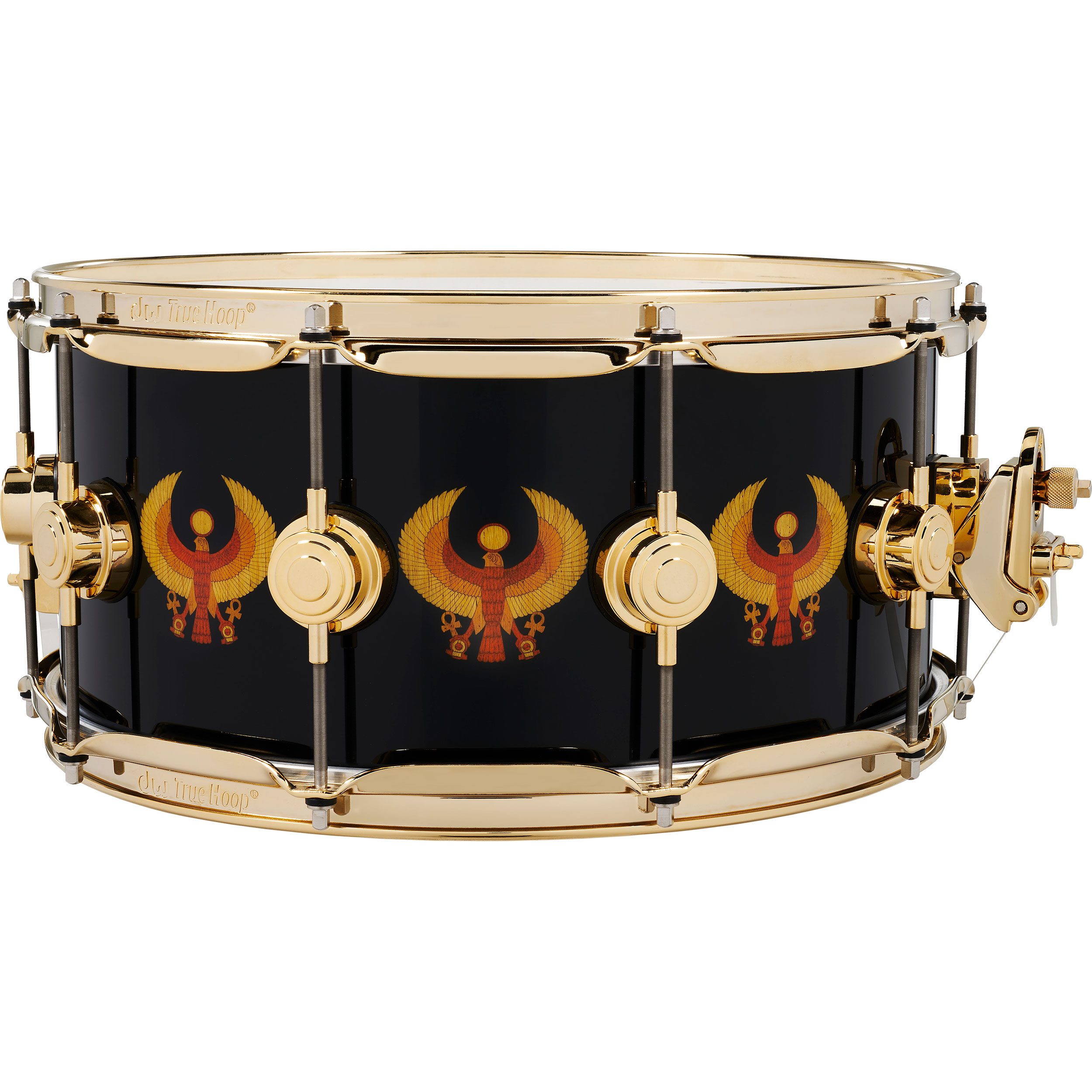"DW 6.5"" x 14"" All-Access Earth, Wind, and Fire Icon Snare Drum with Gold Hardware"