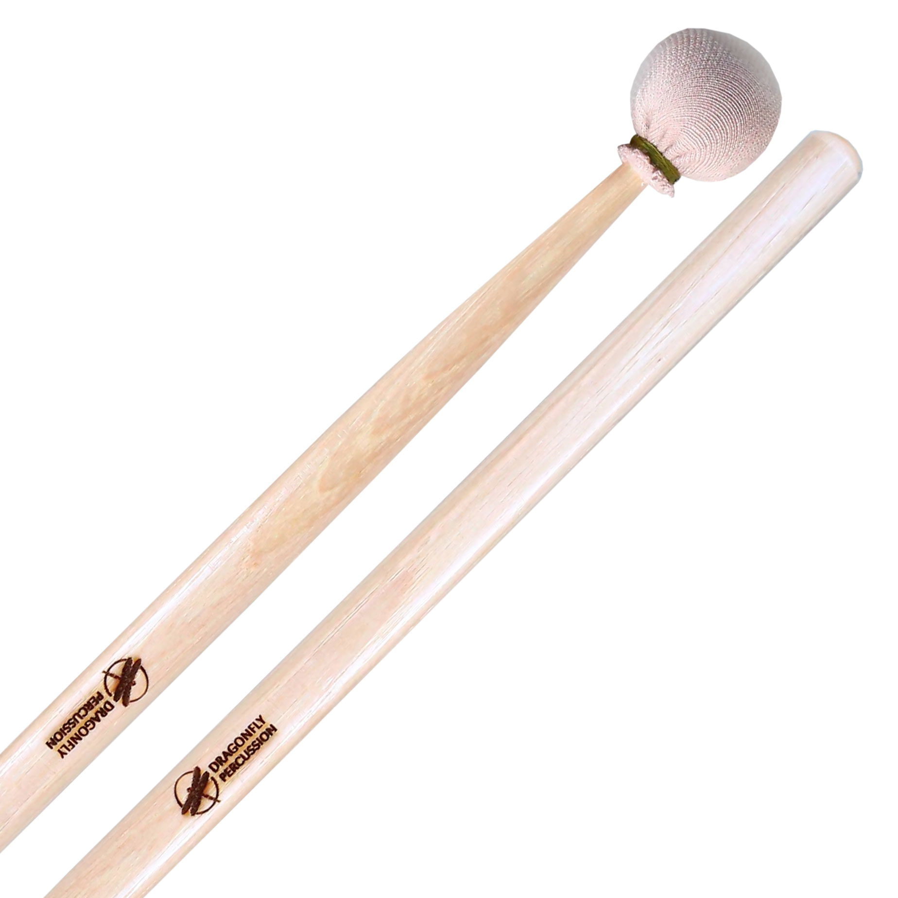 Dragonfly Percussion Soft Suspended Cymbal Mallets with Hickory Handles