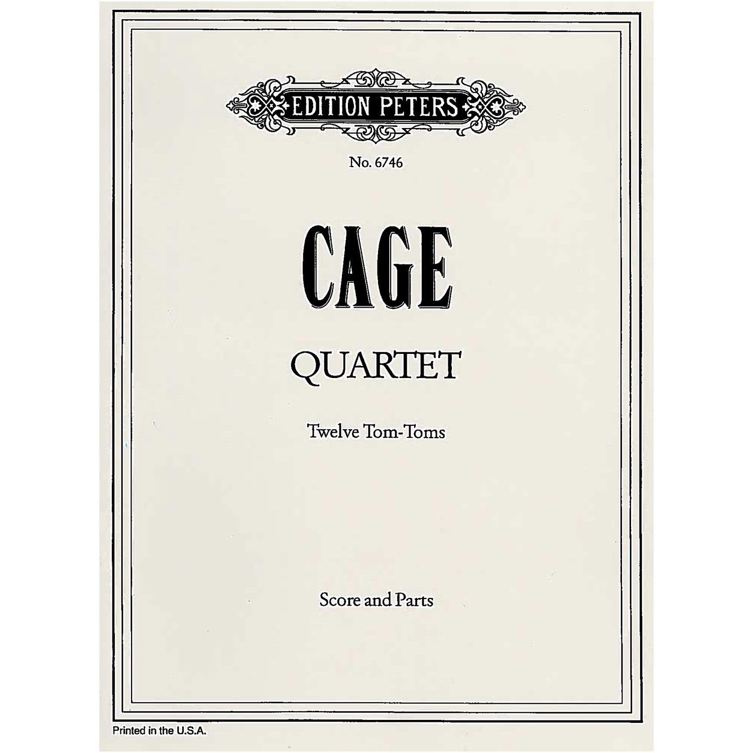 Quartet for Twelve Tom-Toms (from She is Asleep) by John Cage