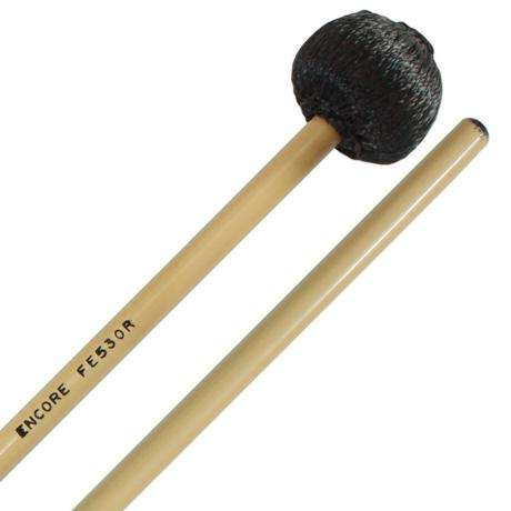 Encore Black Cord Medium Front Ensemble Keyboard Mallets with Rattan Shafts