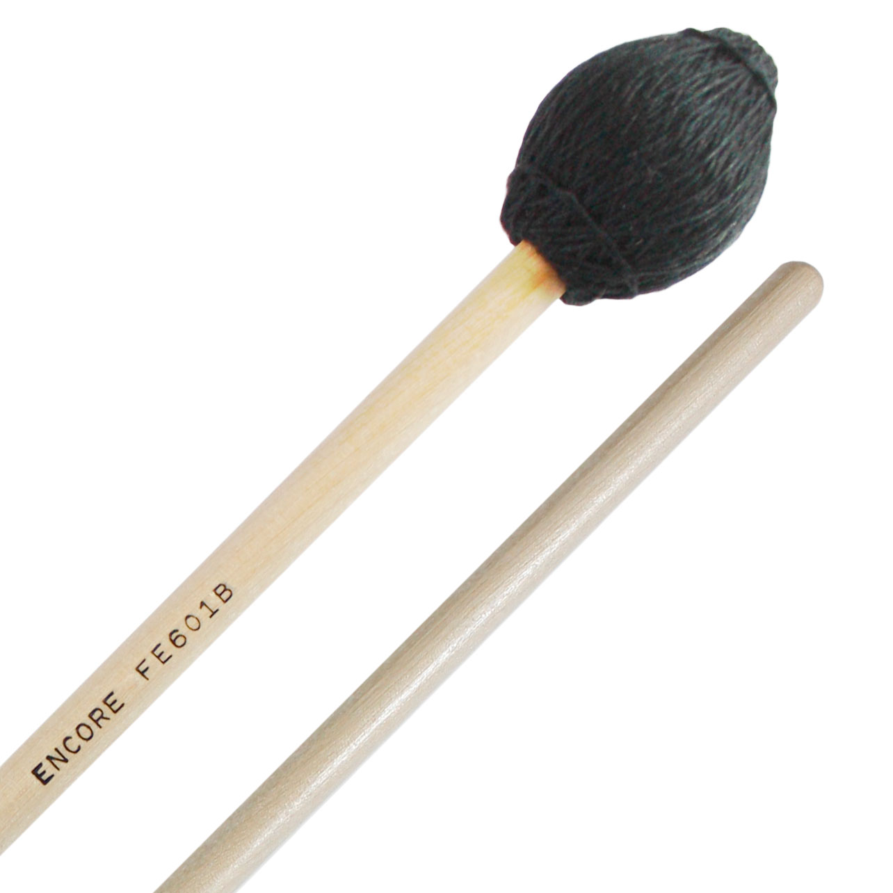 Encore Black Yarn Hard Front Ensemble Keyboard Mallets with Birch Shafts