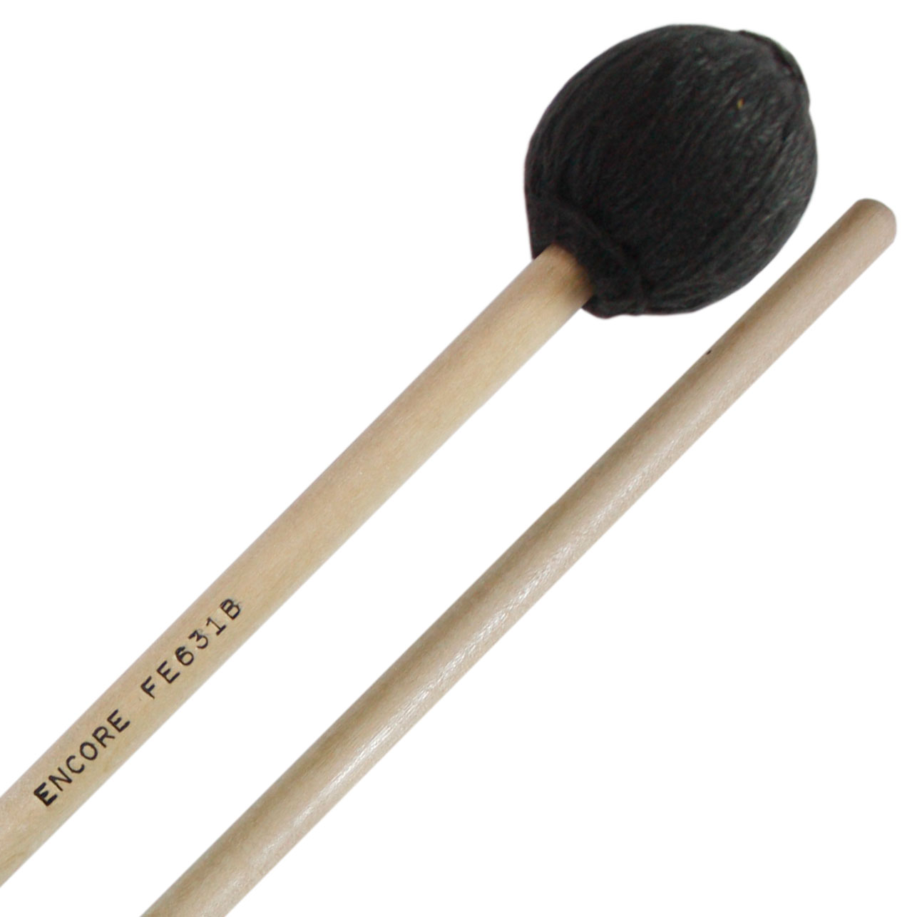 Encore Black Yarn Medium Front Ensemble Keyboard Mallets with Birch Shafts