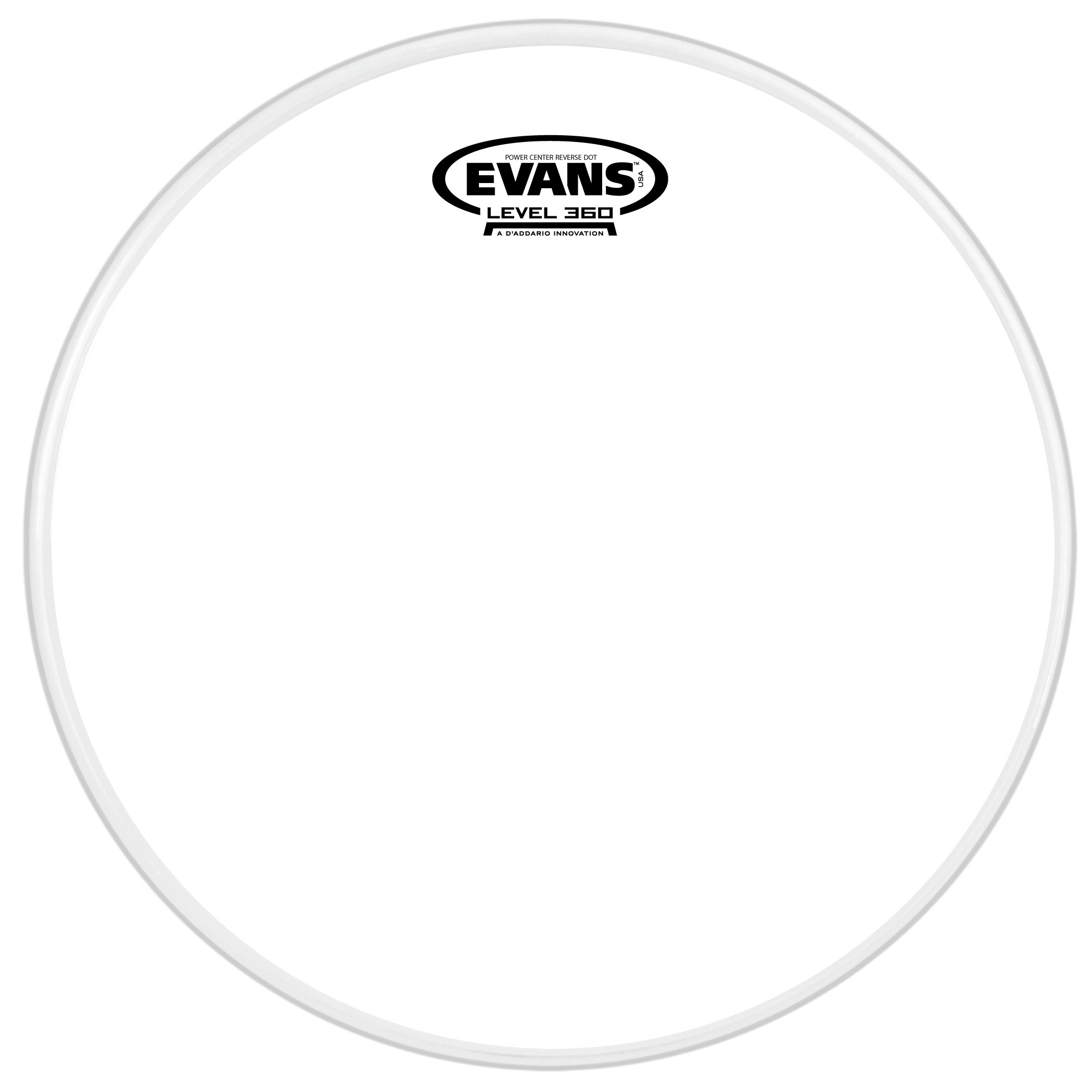 "Evans 12"" Power Center Reverse Dot Snare Top Head"