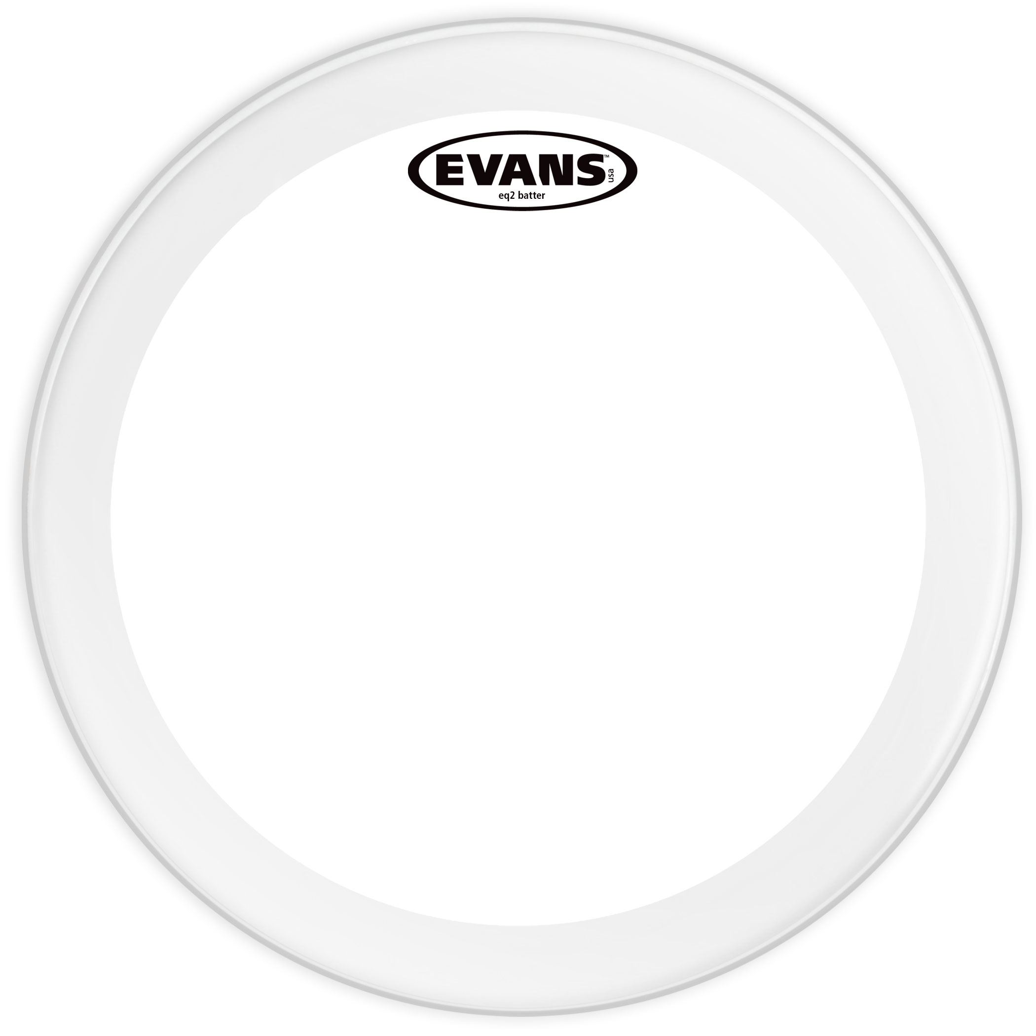 "Evans 18"" EQ2 Clear Bass Head"