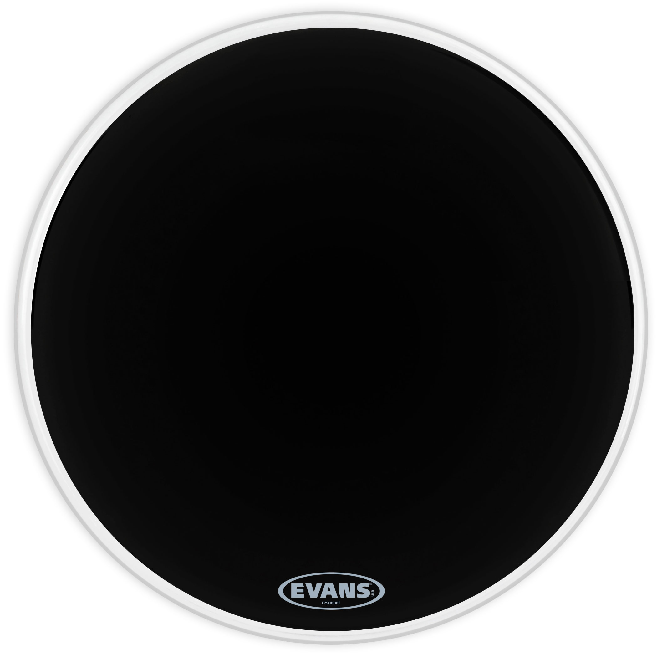"Evans 18"" Resonant Black Bass Head"