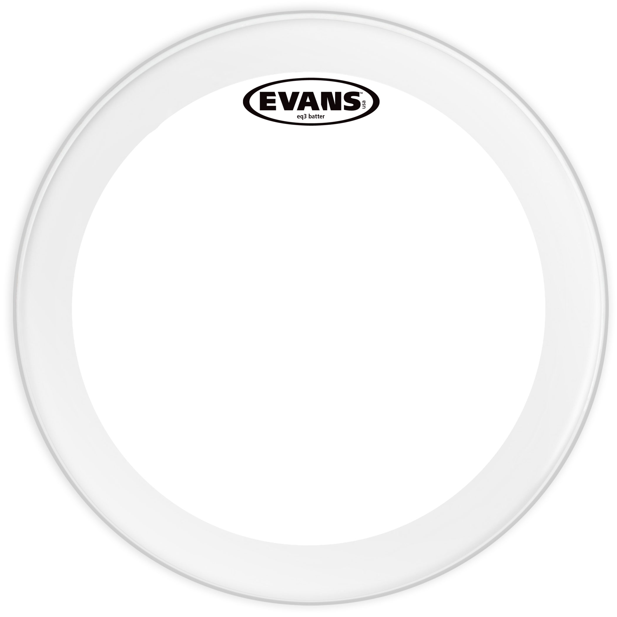"Evans 20"" EQ3 Clear Bass Head"
