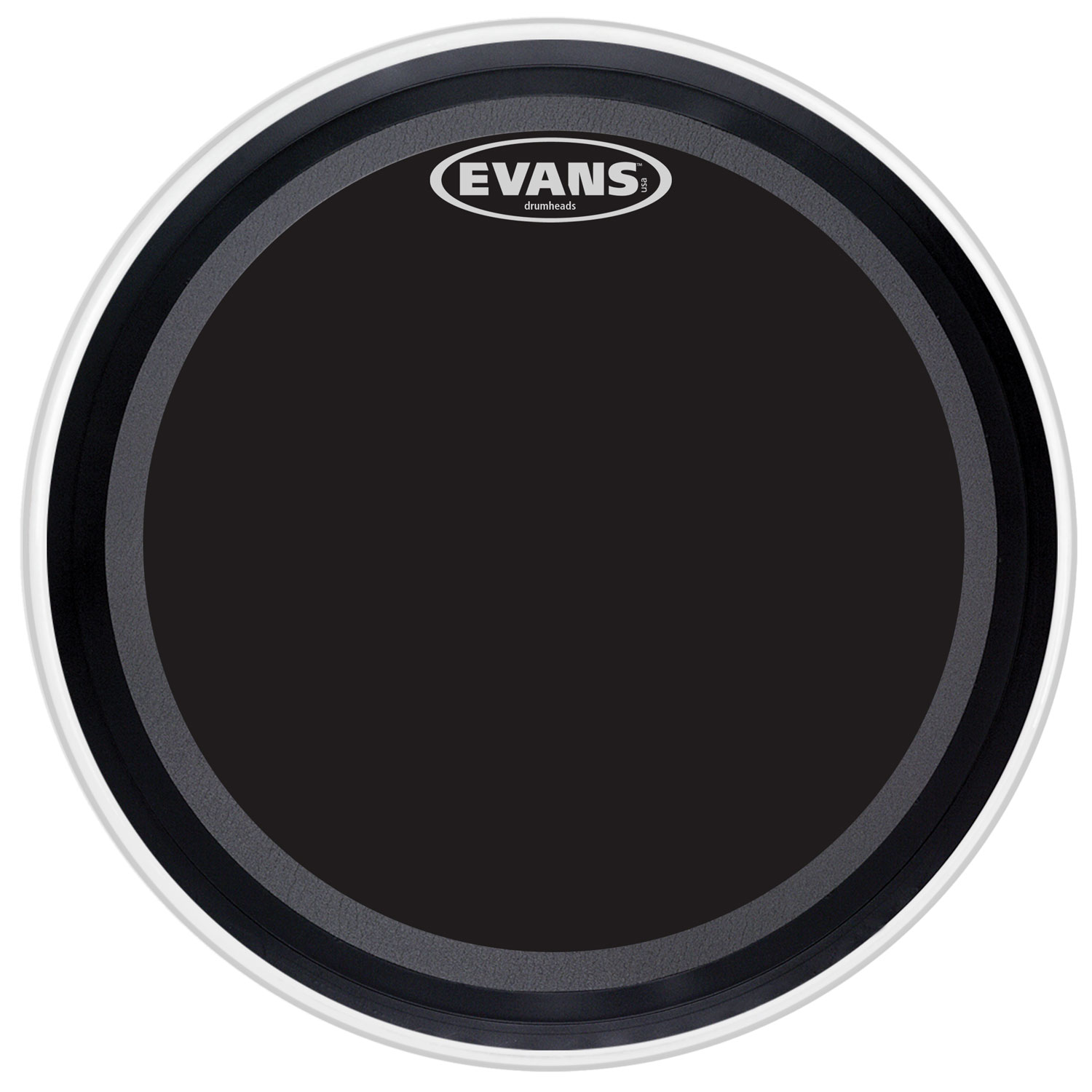 "Evans 22"" EMAD Onyx Bass Head"