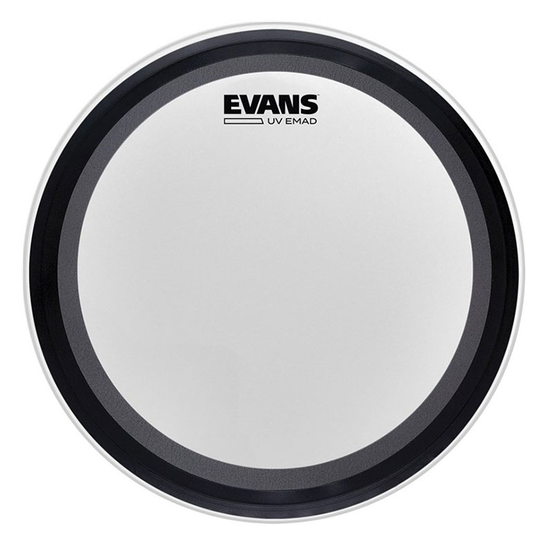 """Evans 26"""" UV EMAD Coated Bass Drum Head"""