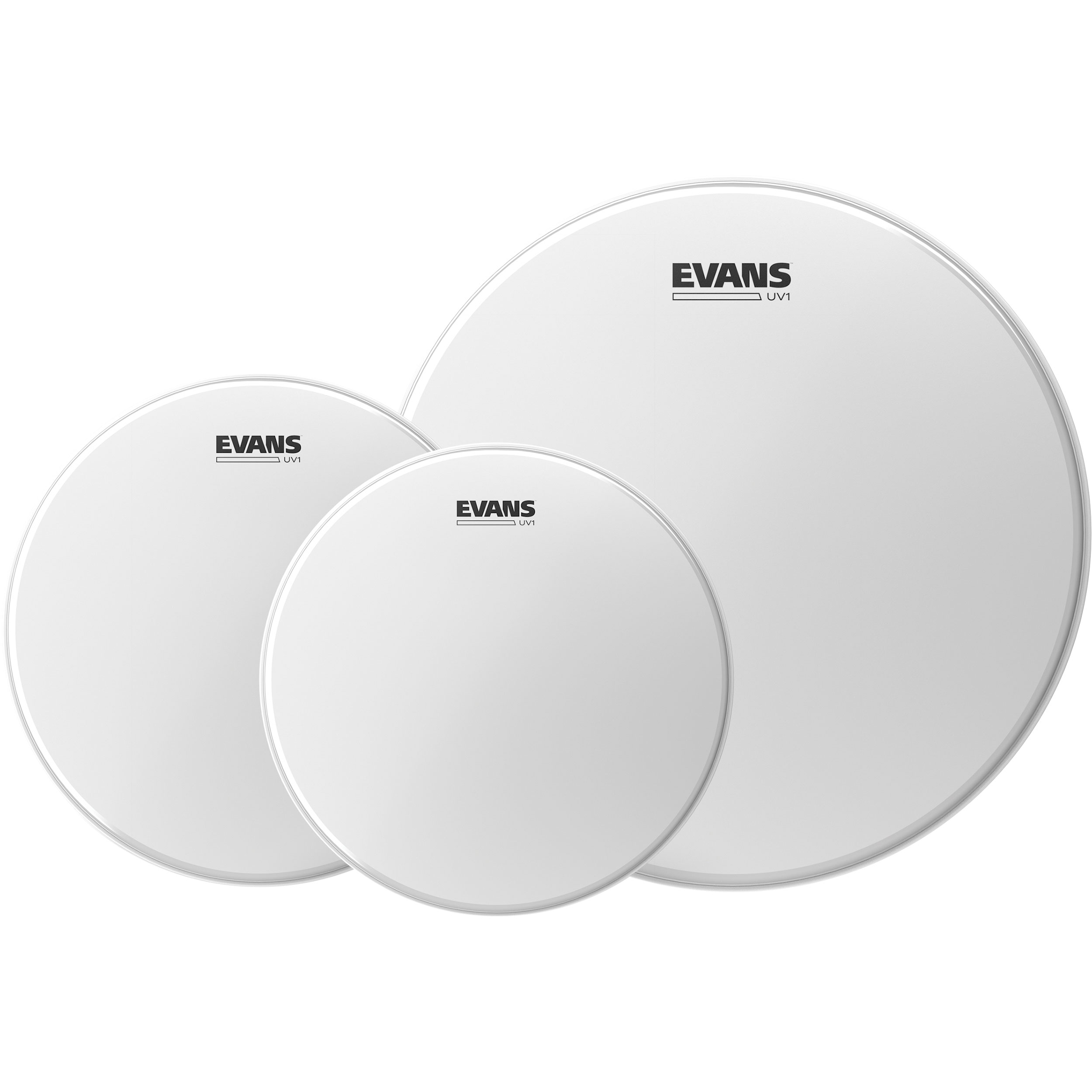"Evans 10""/12""/14"" UV1 Coated Fusion Tom Head Pack"