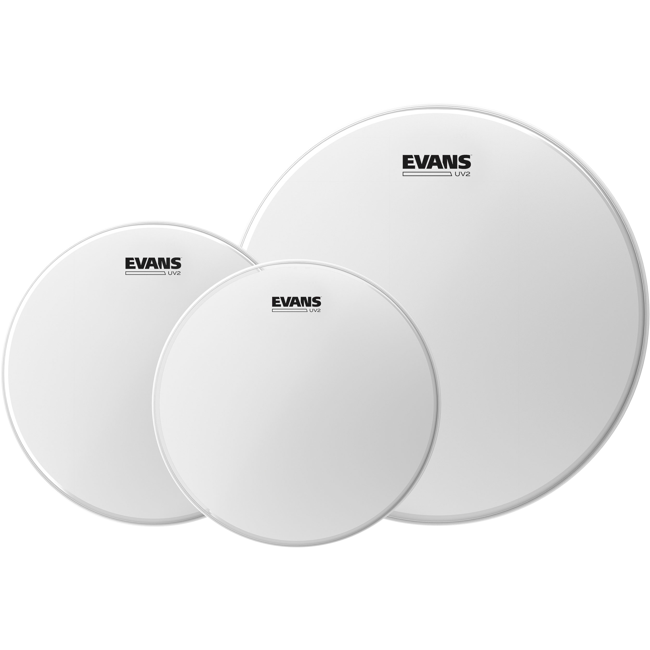 "Evans 10""/12""/14"" UV2 Coated Fusion Tom Head Pack"
