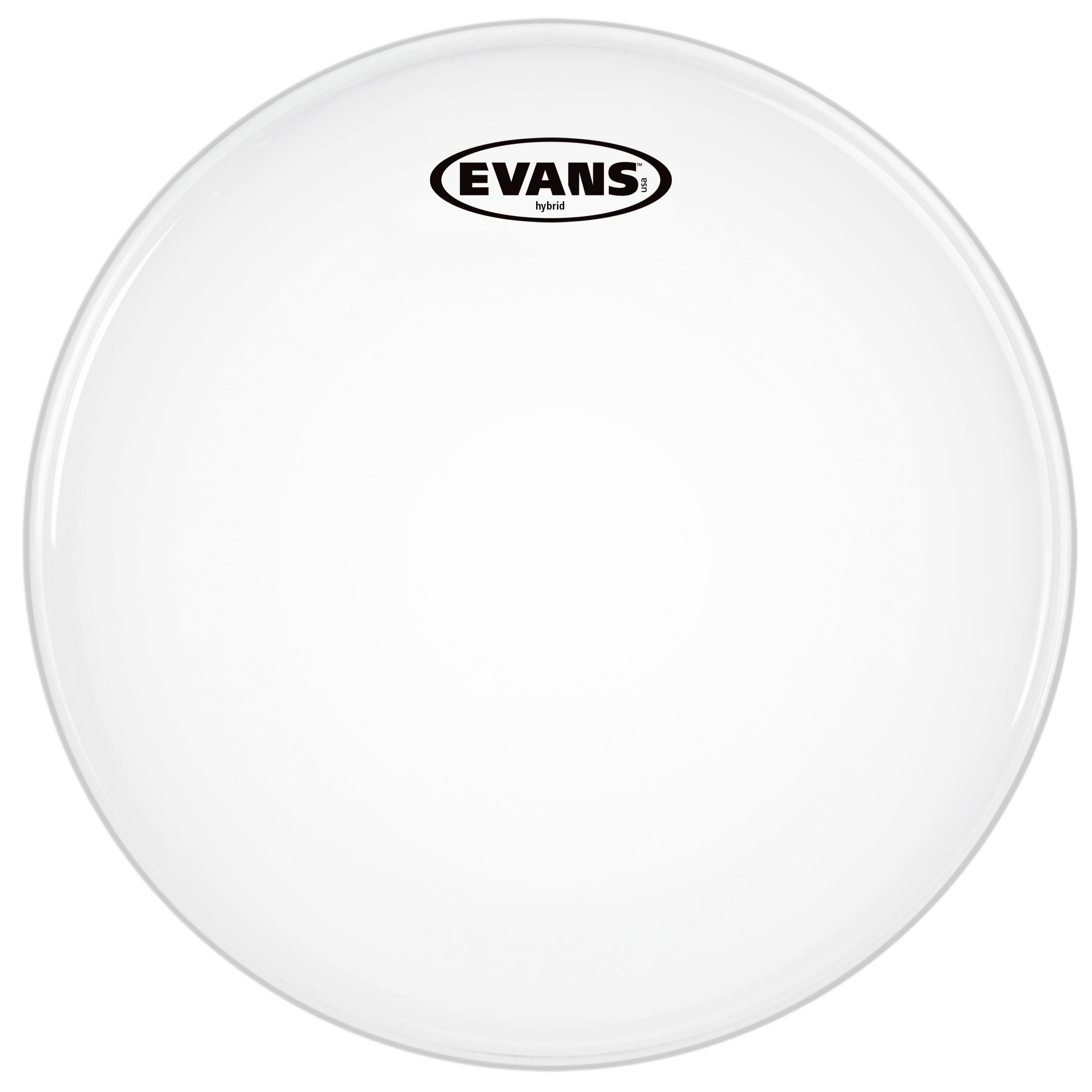 """Evans 13"""" Hybrid White Marching Snare Top Head"""