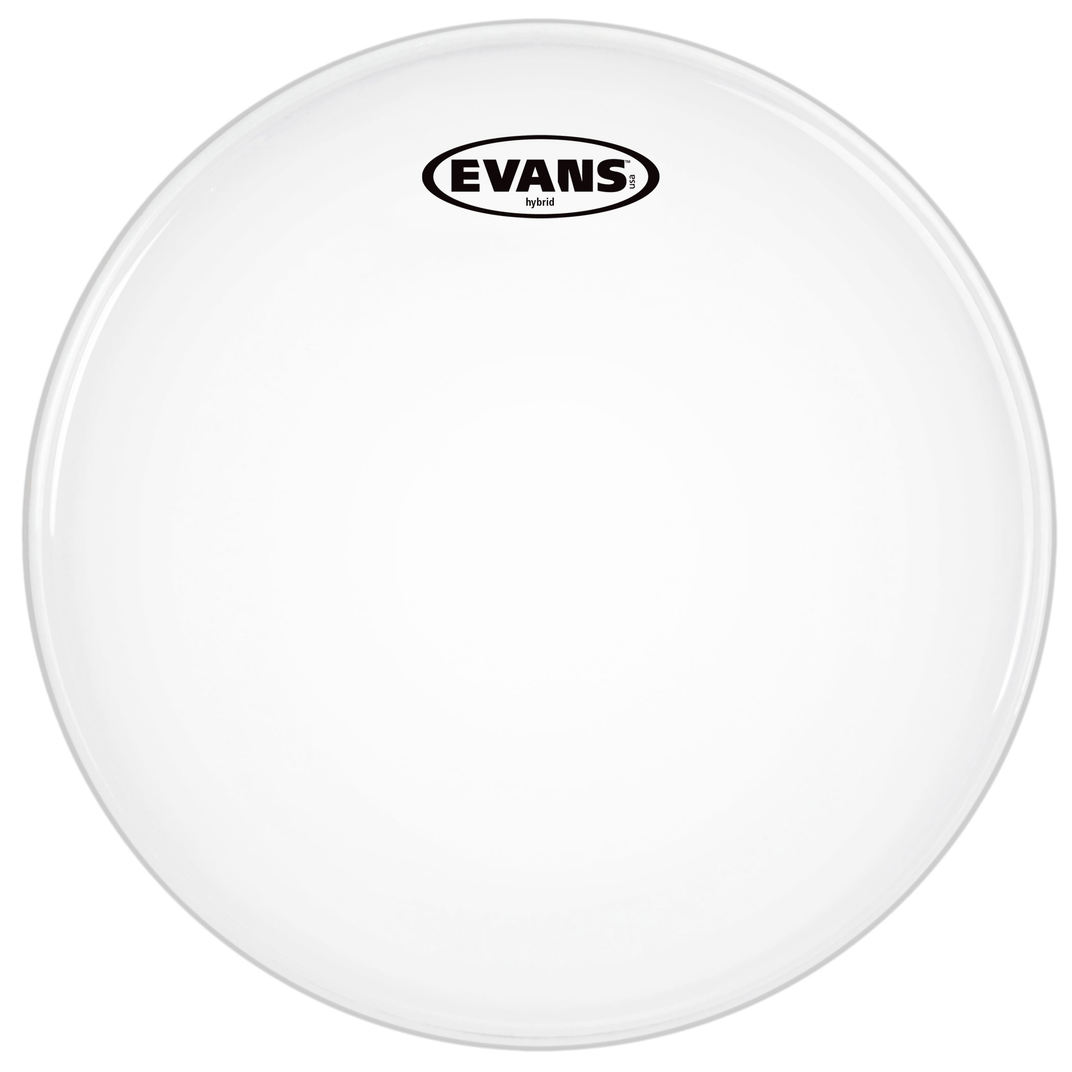 """Evans 14"""" Hybrid White Marching Snare Top Head"""