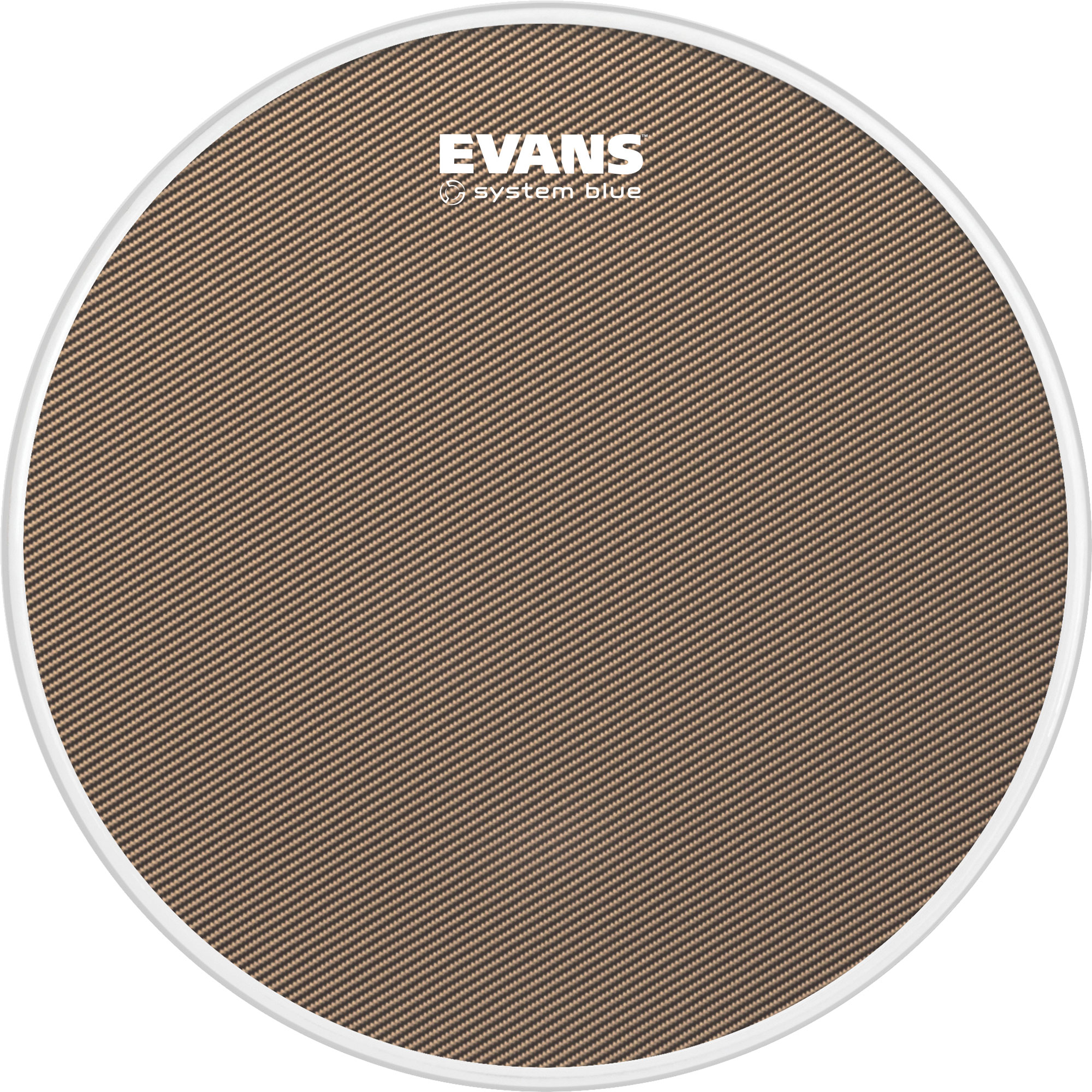 "Evans 14"" System Blue Marching Snare Top Head"
