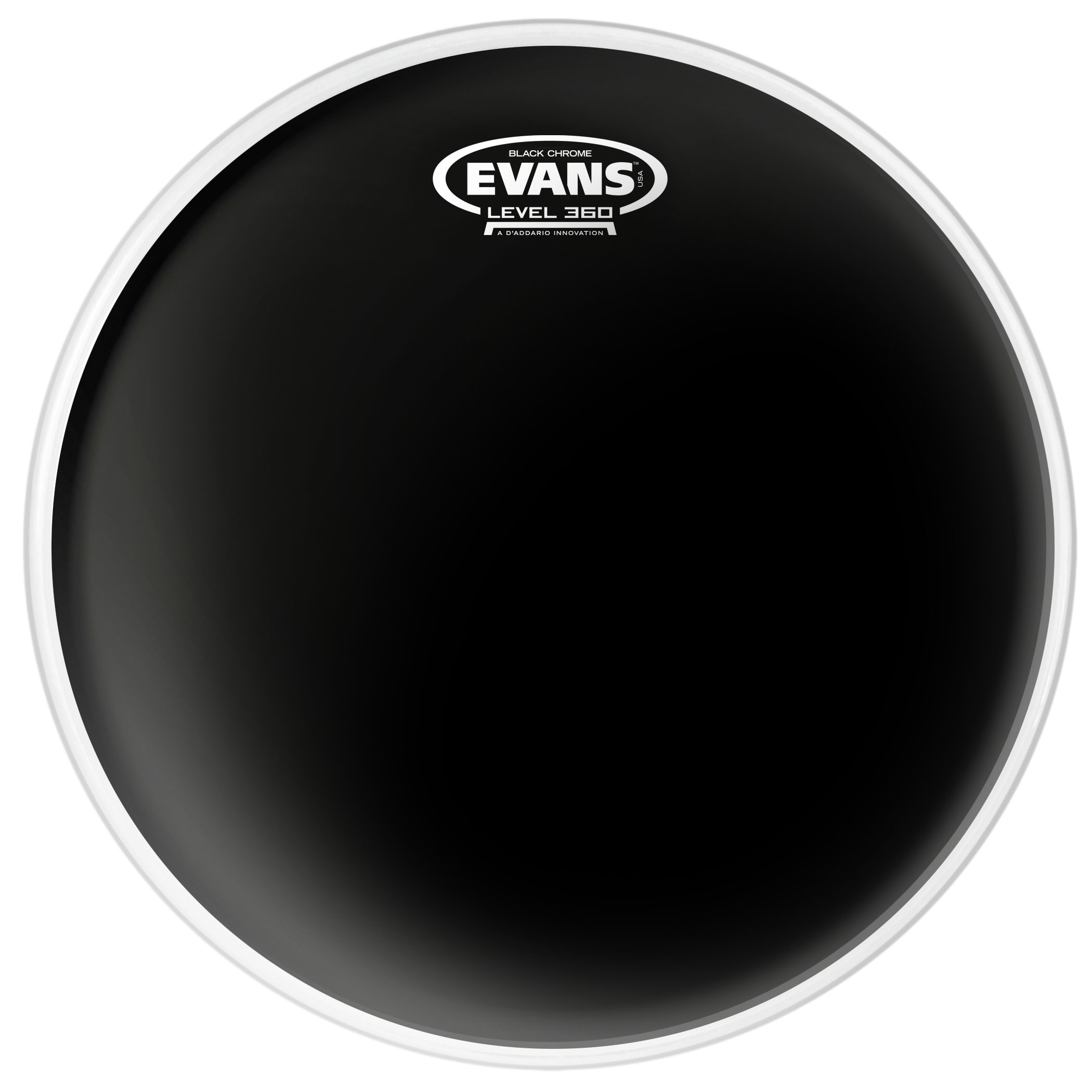 "Evans 6"" Black Chrome Head"