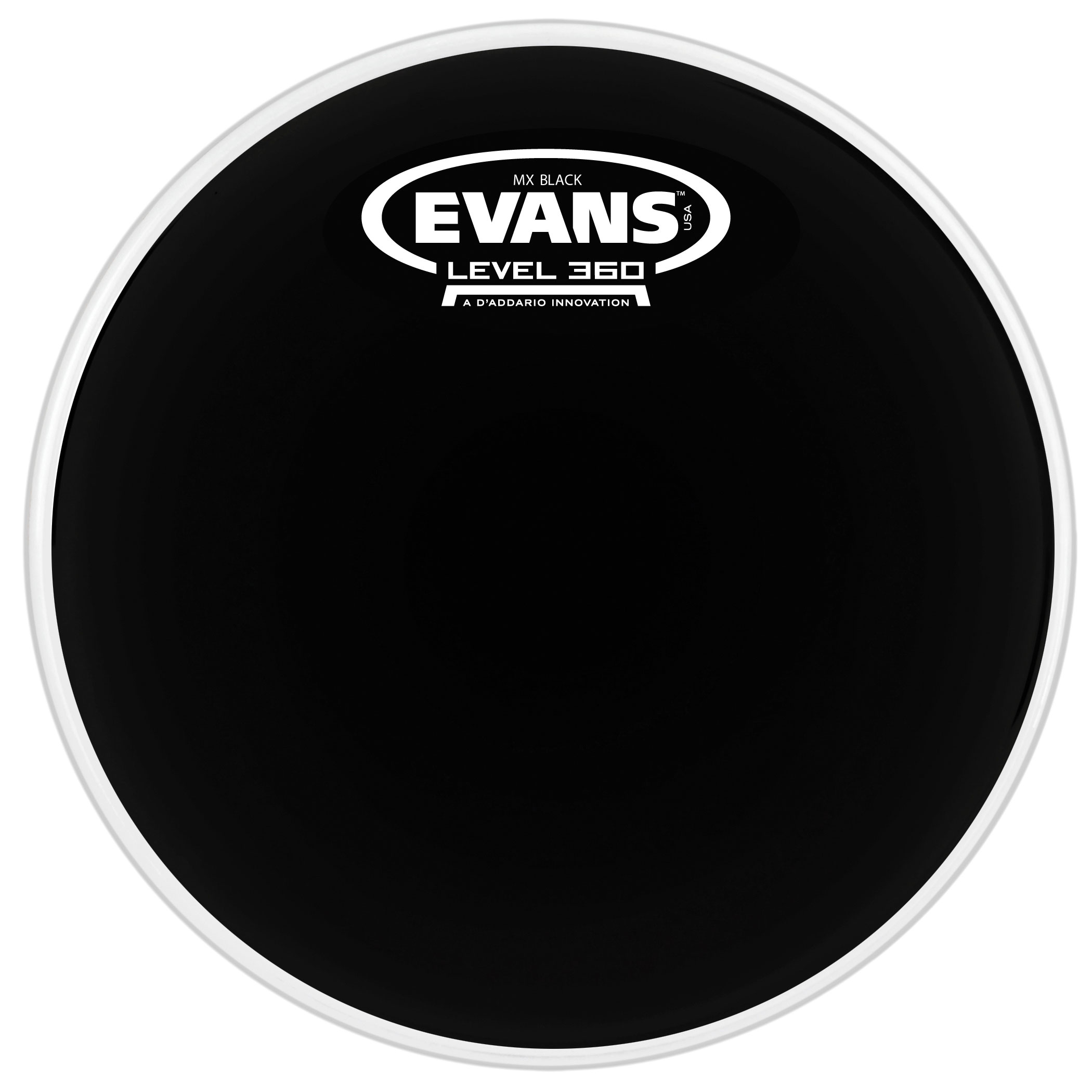 "Evans 6"" MX Black Marching Tenor Head"