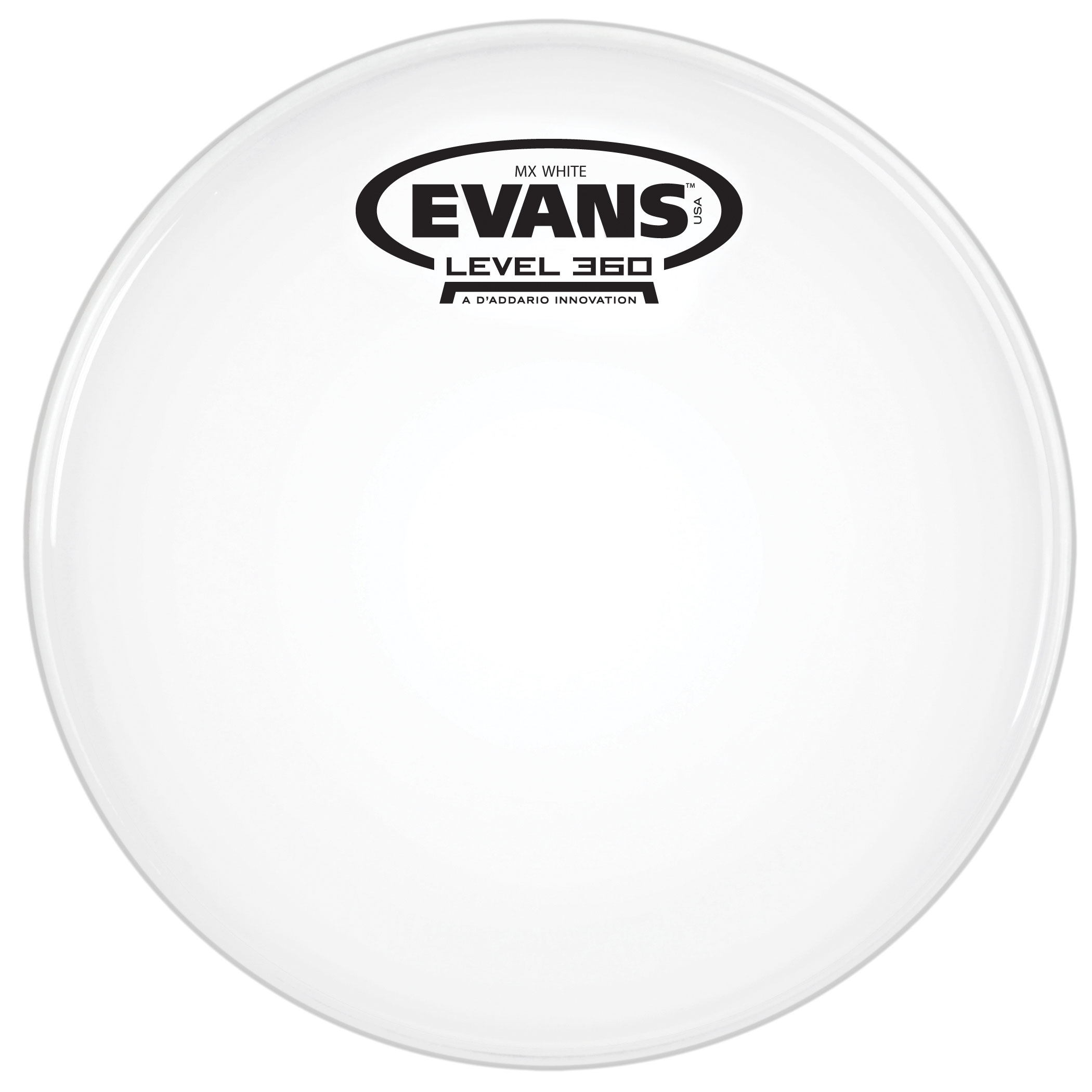 "Evans 6"" MX White Marching Tenor Head"