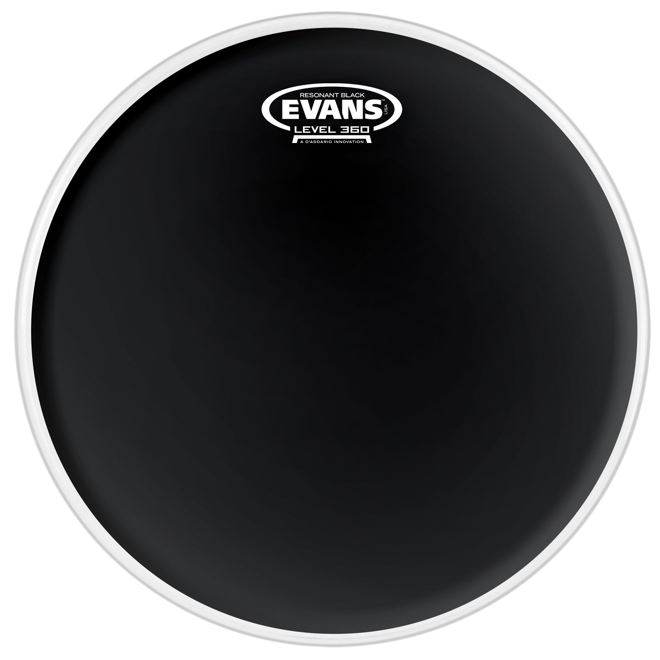 "Evans 6"" Resonant Black Head"