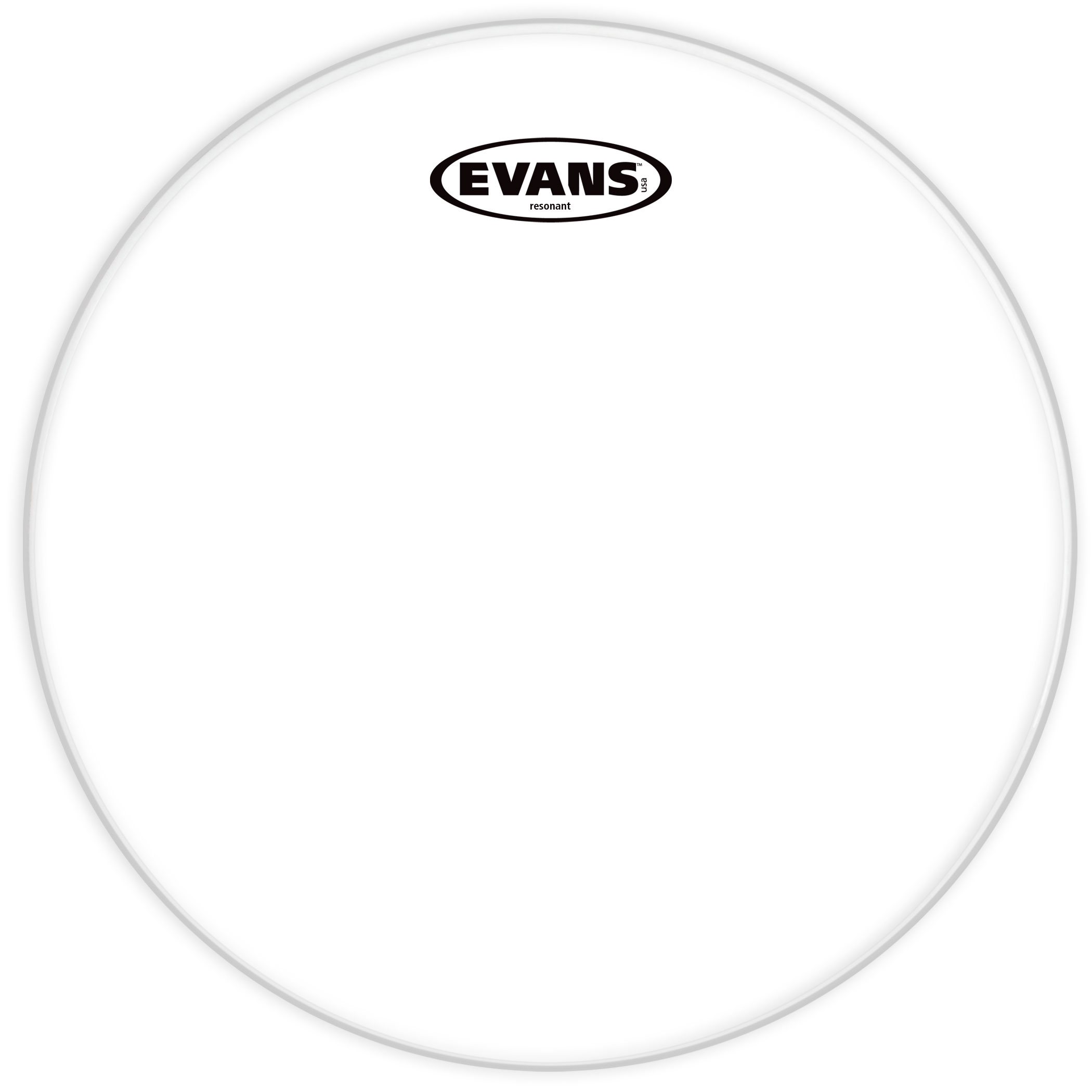 "Evans 6"" Resonant Glass Head"