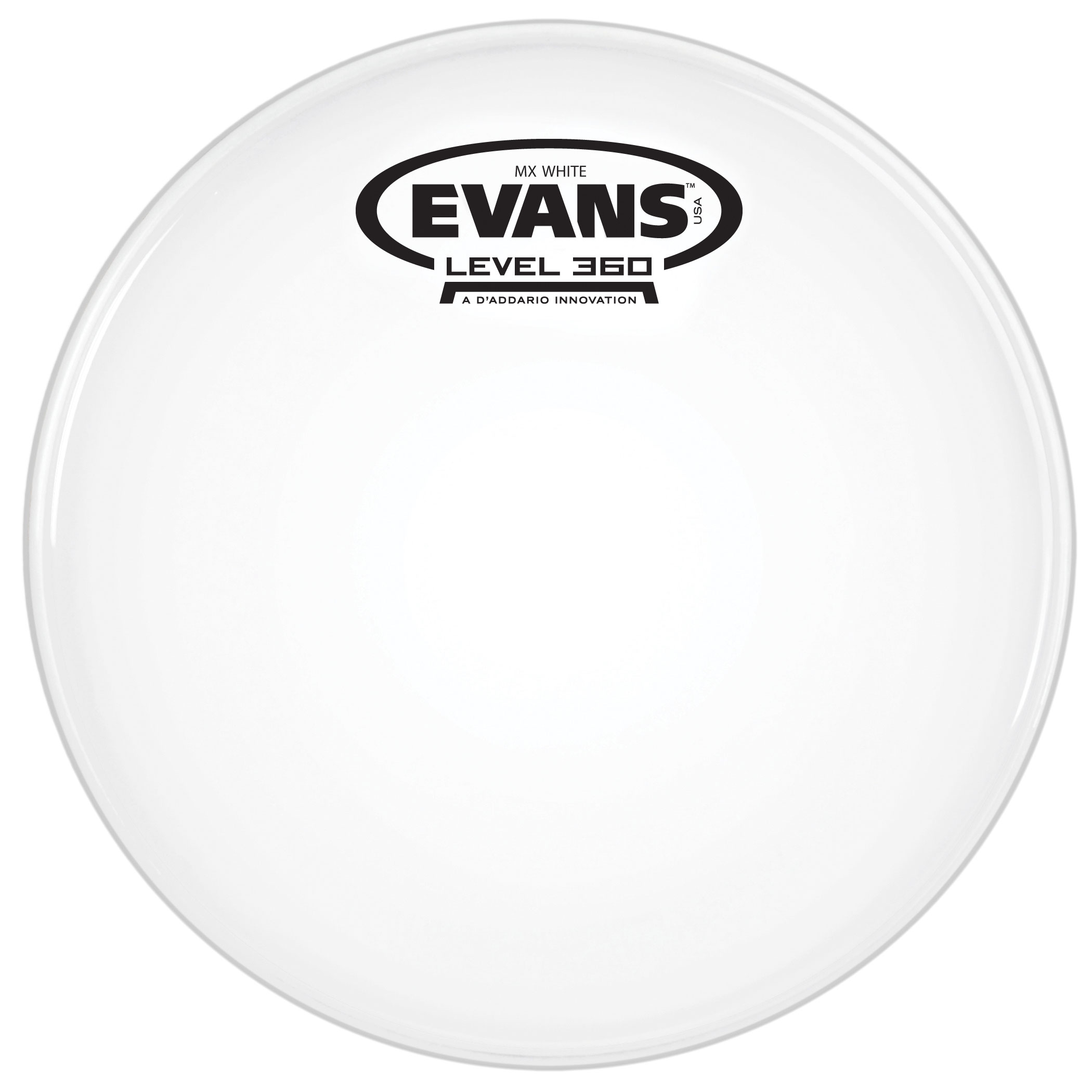 "Evans 8"" MX White Marching Tenor Head"