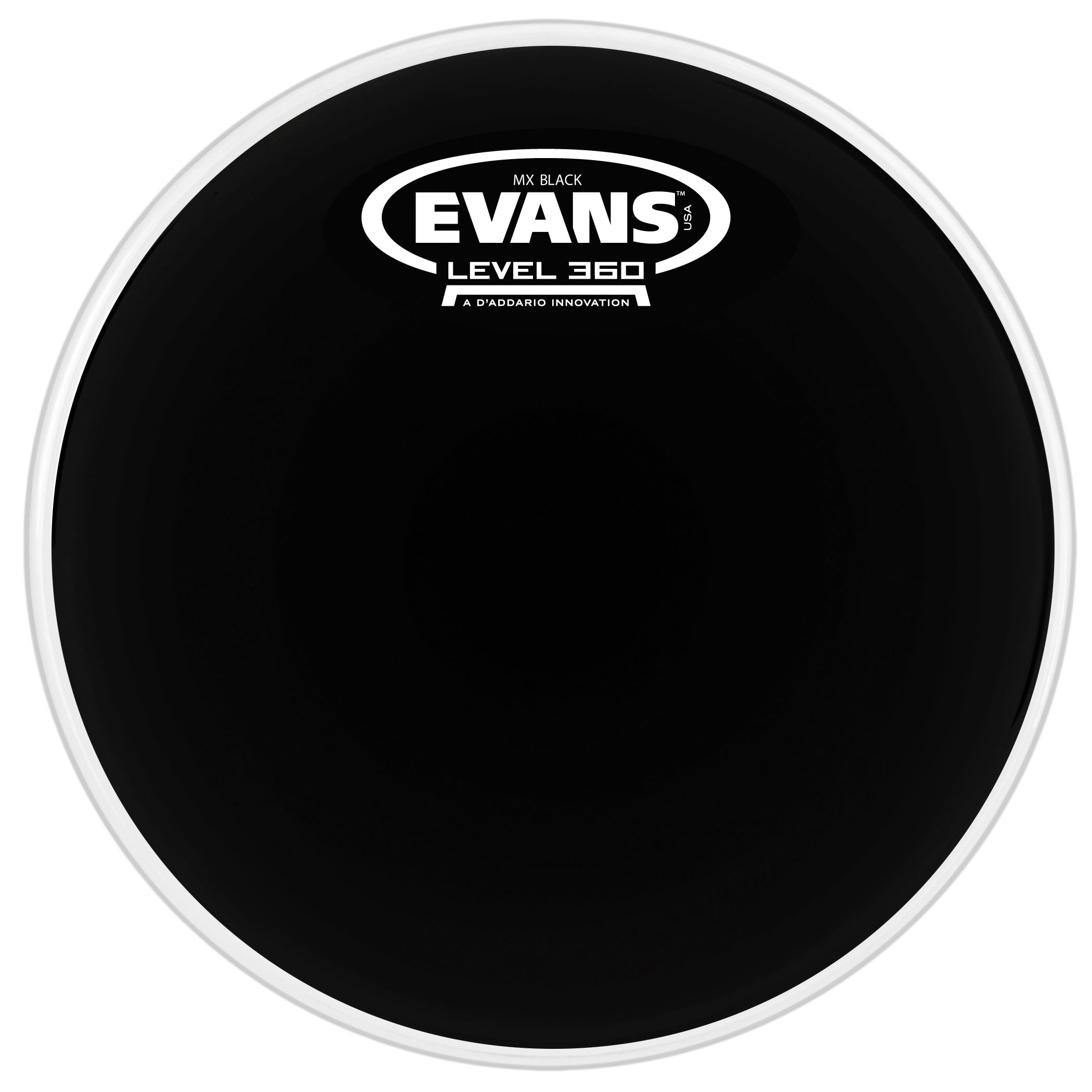 "Evans 14"" MX Black Marching Tenor Head"