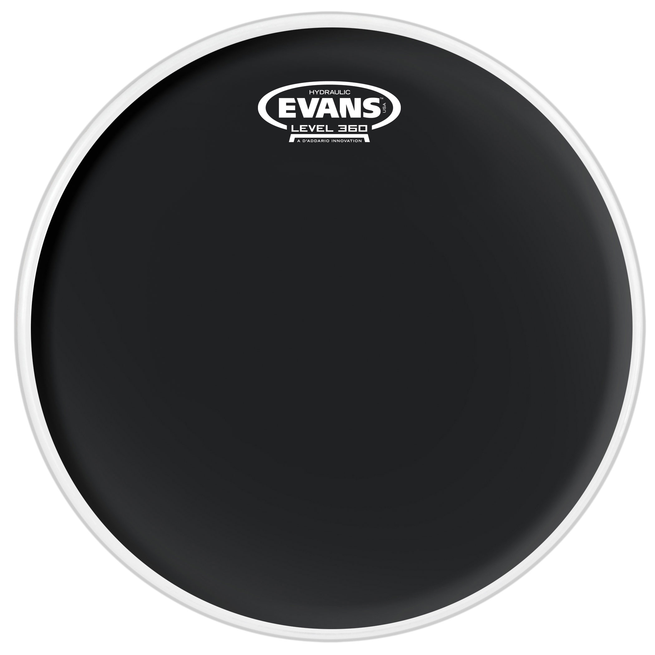 "Evans 20"" Hydraulic Black Tom Head"