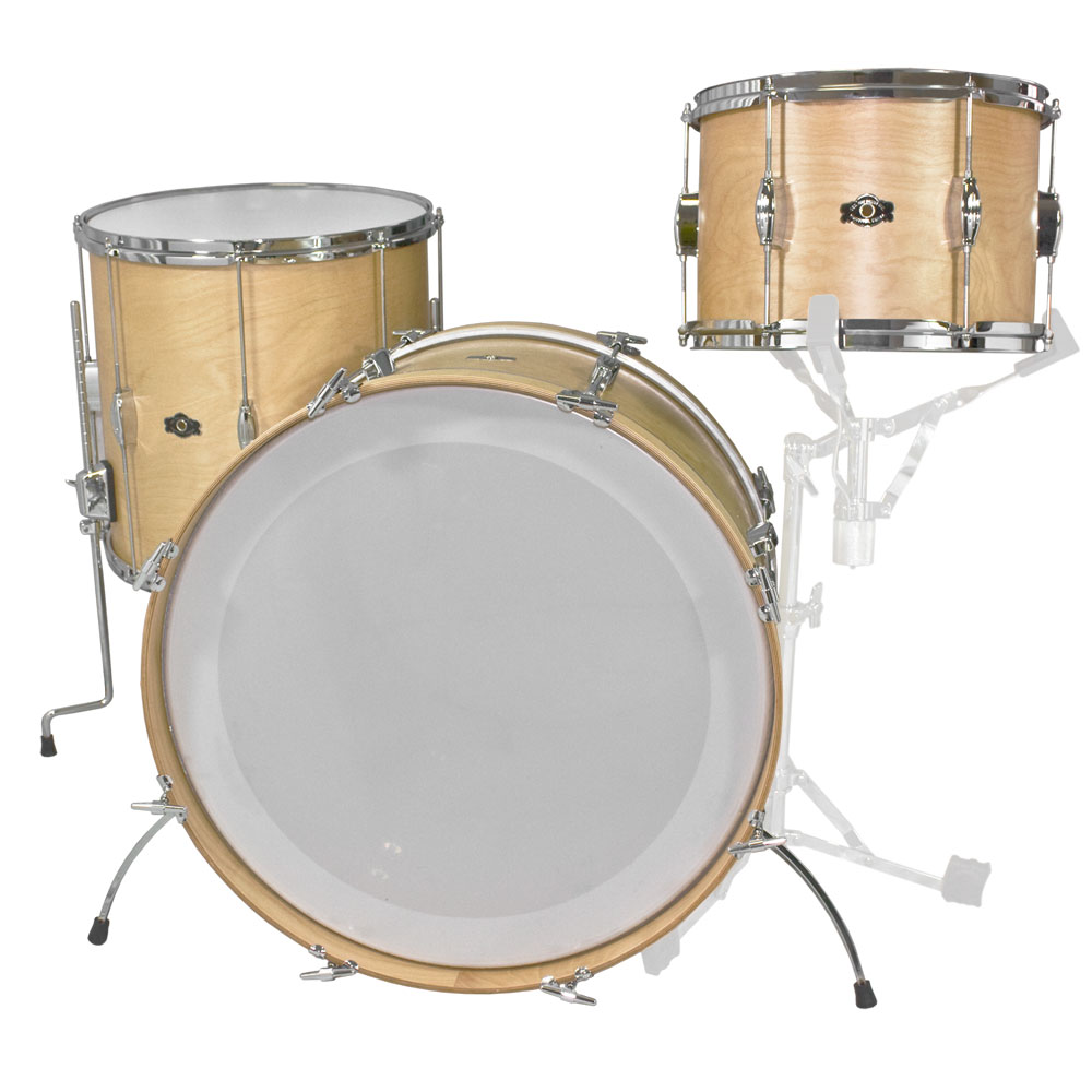 "George Way Tradition Tuxedo 3-Piece Drum Set Shell Pack (22"" Bass, 13/16"" Toms) in Natural"