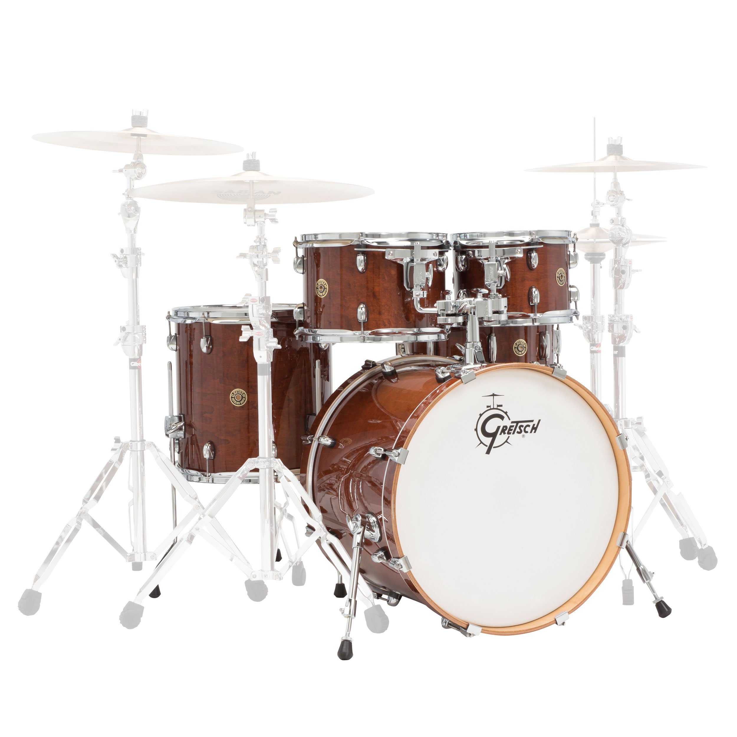 gretsch catalina maple 5 piece groove shell pack 20 bass 10 12 14 toms 14 snare cm1 e605. Black Bedroom Furniture Sets. Home Design Ideas