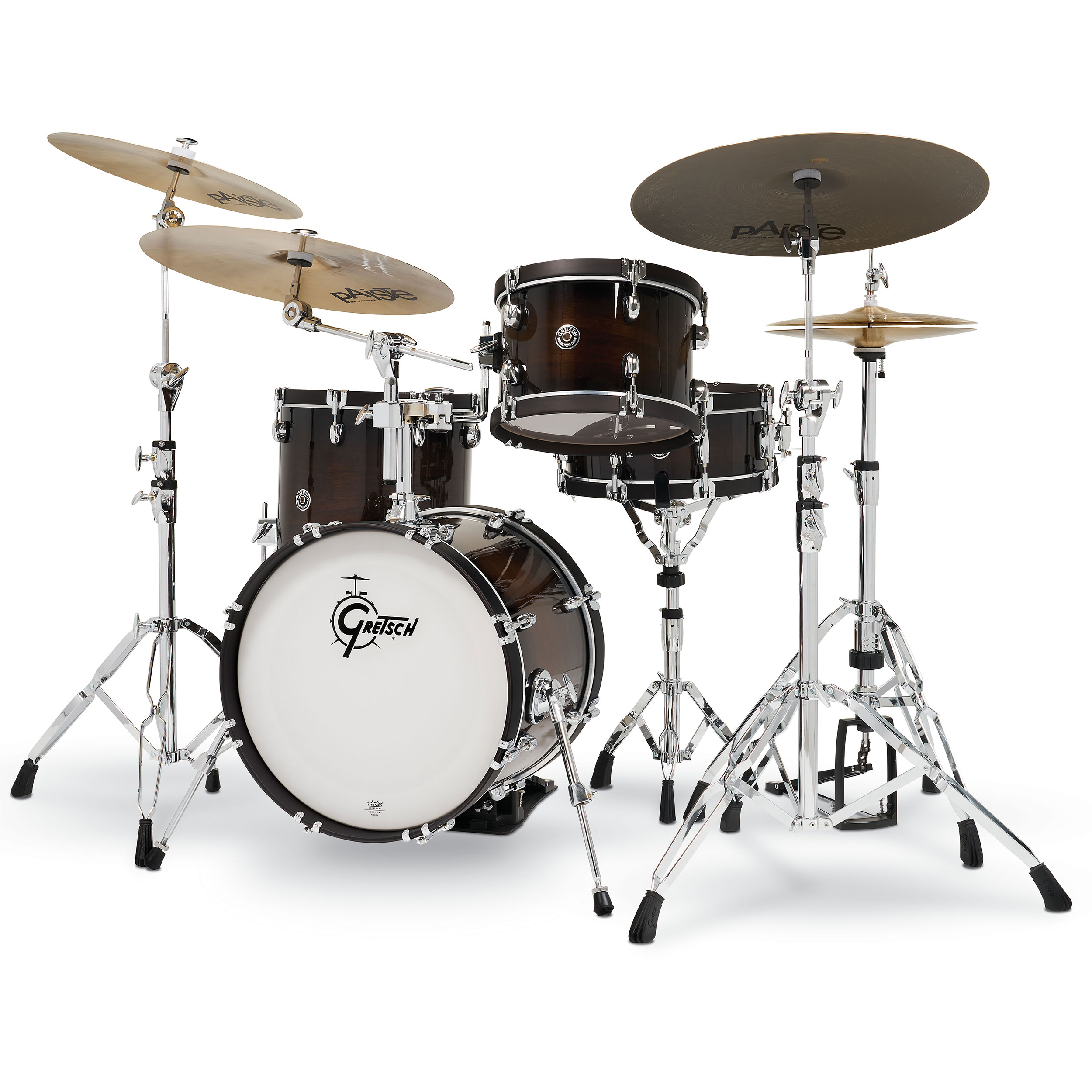 "Gretsch Catalina Special Edition 4-Piece Drum Set Shell Pack (18"" Bass, 12/14"" Toms, 14"" Snare) in Walnut Burst"