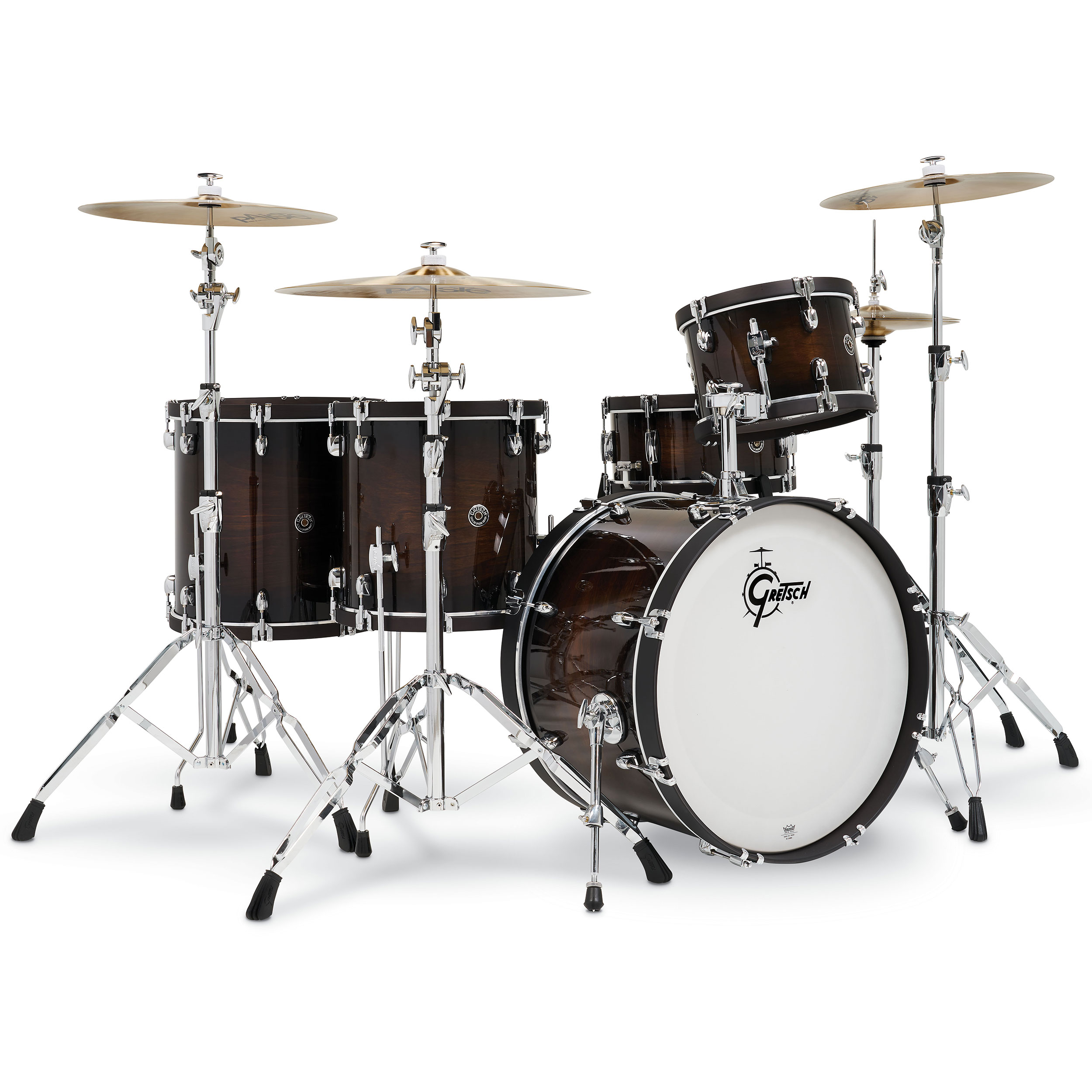 "Gretsch Catalina Special Edition 5-Piece Drum Set Shell Pack (22"" Bass, 12/14/16"" Toms, 14"" Snare) in Walnut Burst"