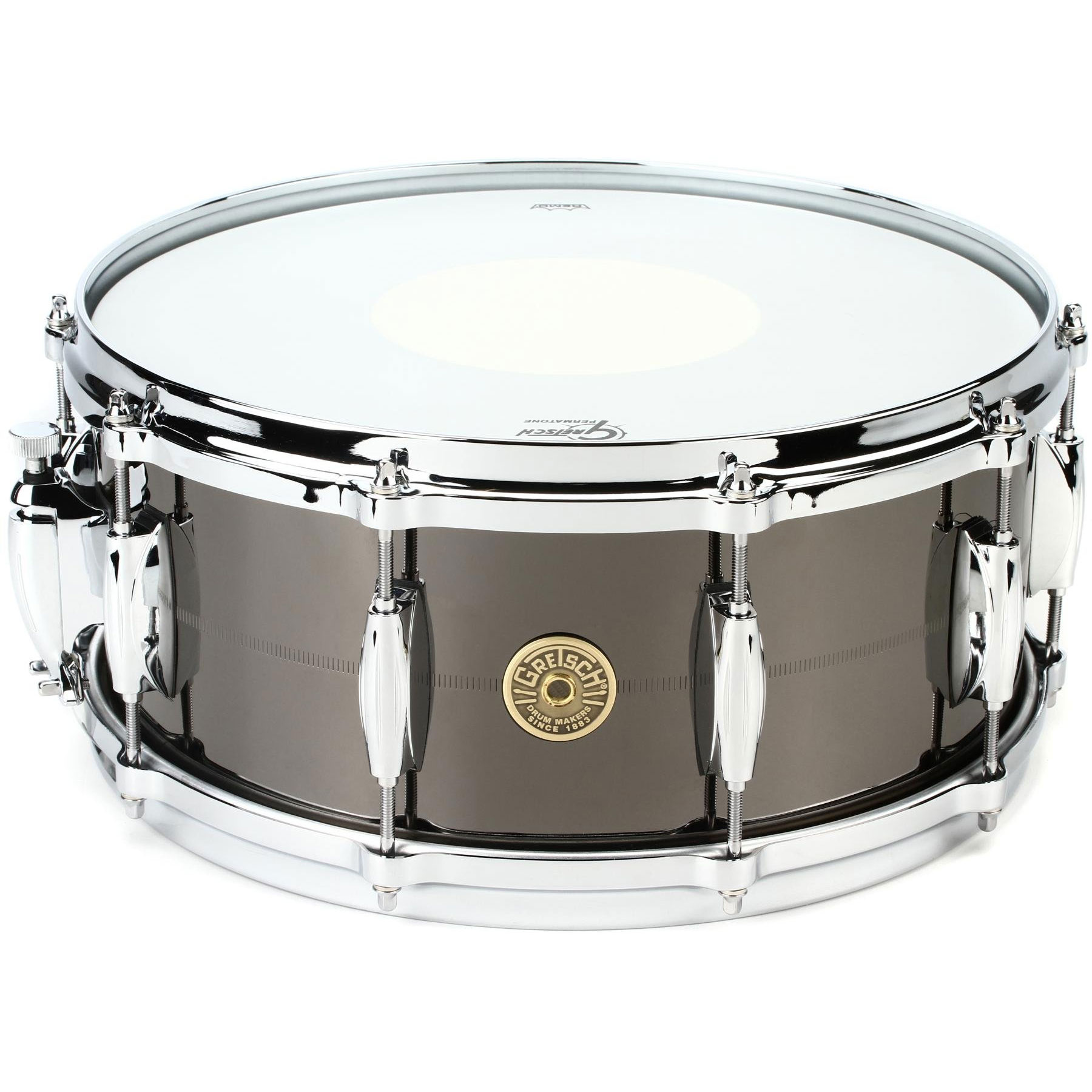 "Gretsch 6"" x 14"" USA Black Nickel over Brass Snare Drum"