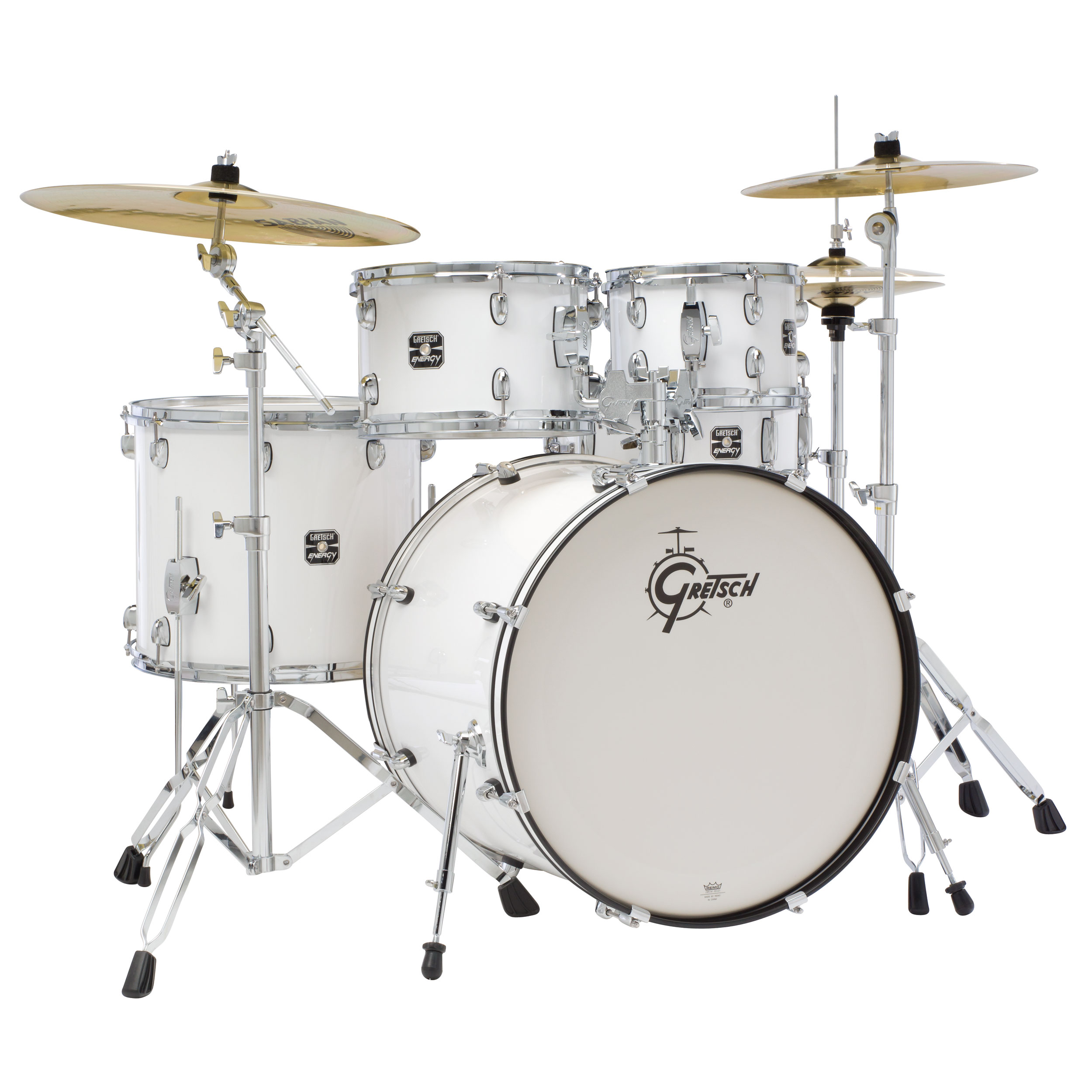 gretsch energy drum set w hardware and cymbals 22 bass 10 12 16 toms 14 snare gex e825pk. Black Bedroom Furniture Sets. Home Design Ideas