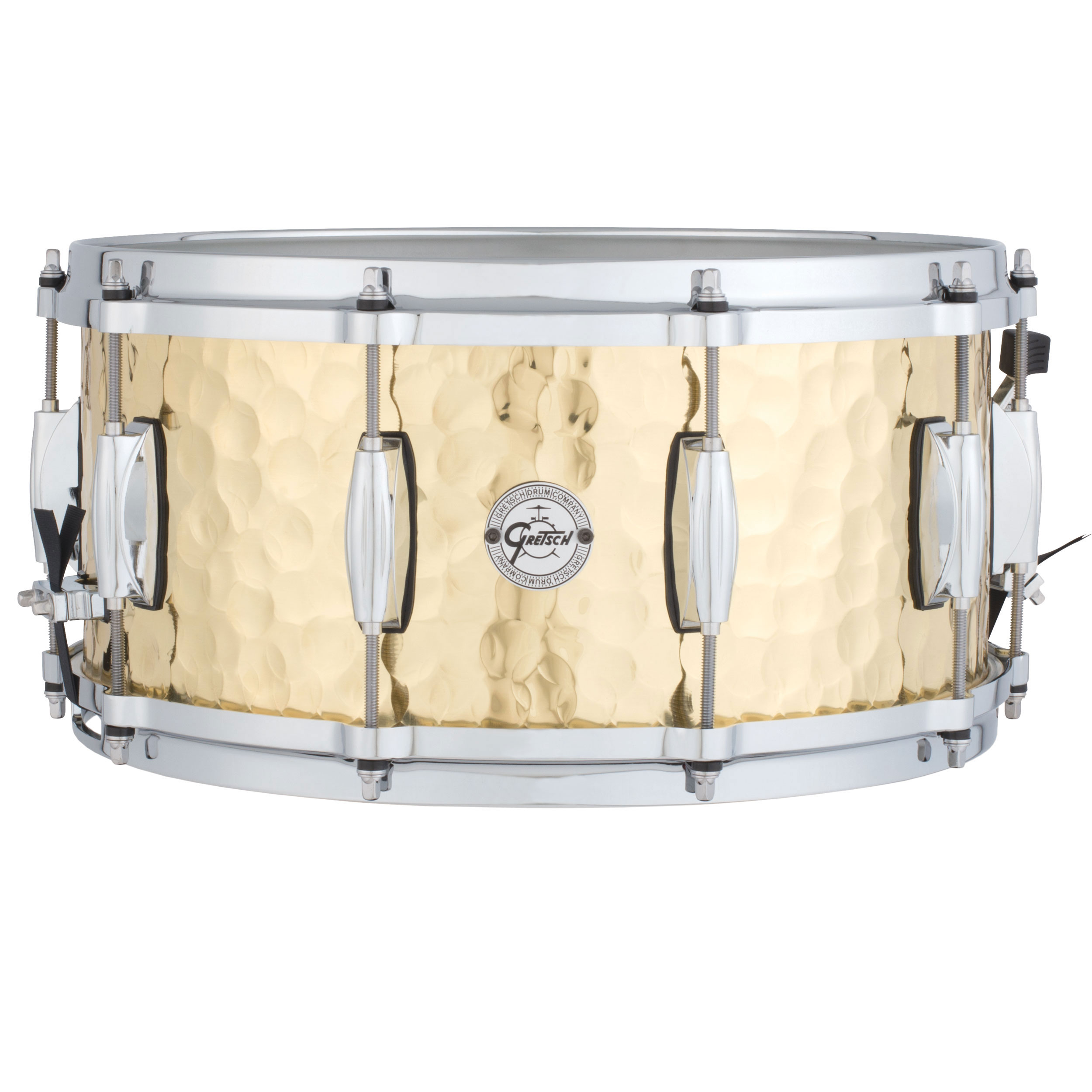 "Gretsch 6.5"" x 14"" Silver Series Hammered Brass Snare Drum"