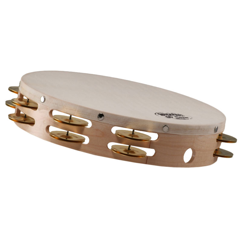 "Grover Pro 10"" Sound Values Double Row Brass Tambourine (Natural Head)"
