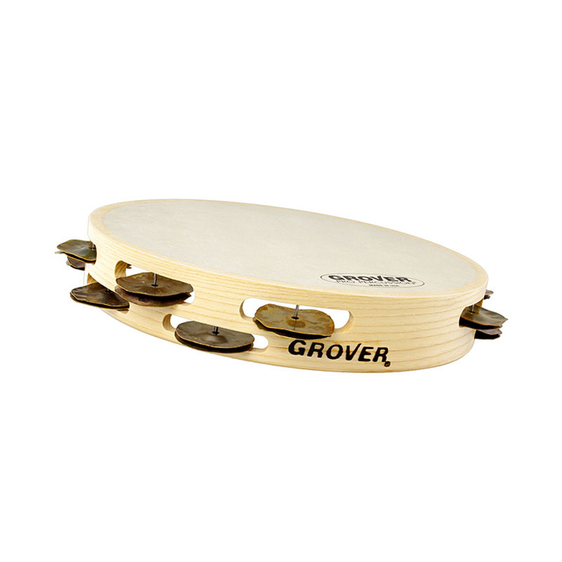 "Grover Pro 10"" Bantamweight Single Row Heat-Treated Copper Tambourine (Natural Head)"