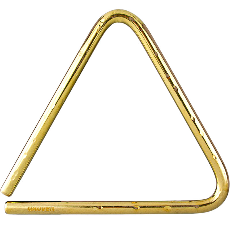 "Grover Pro 6"" Concert Bronze Hammered Lite Triangle"