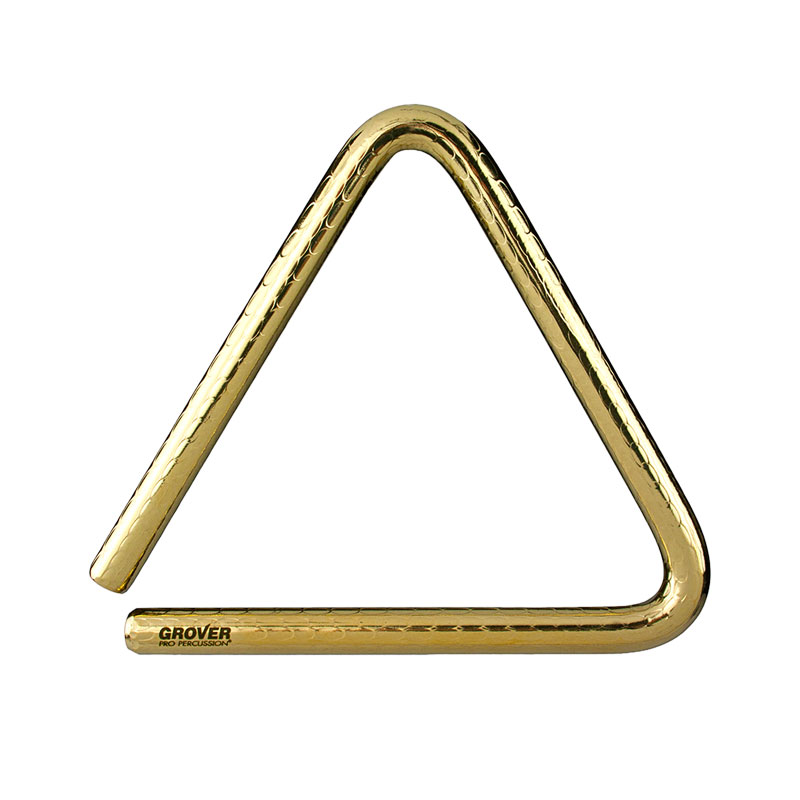 "Grover Pro 6"" Bronze-Pro Hammered Triangle"