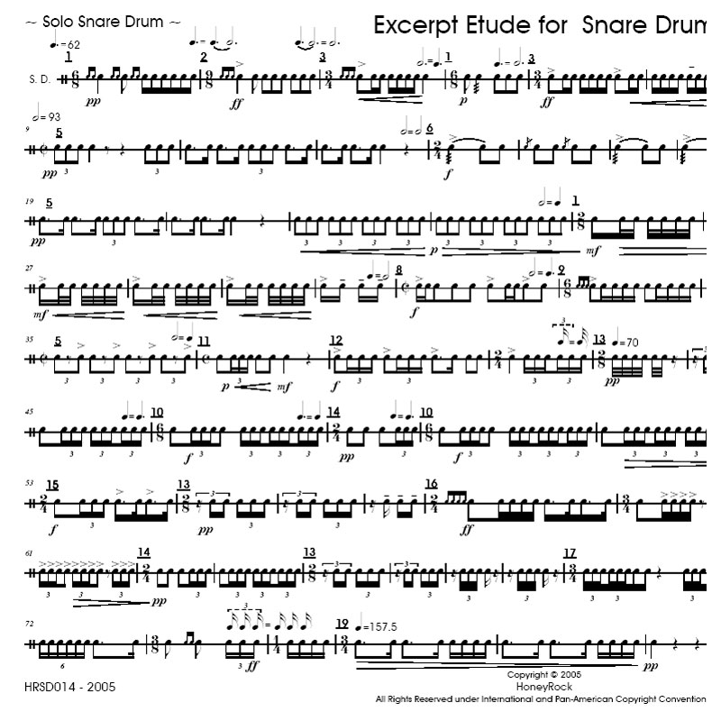 All Music Chords 1812 overture music sheet : Excerpt Etude for Snare Drum by Matthew Beck | Snare Drum Solo ...