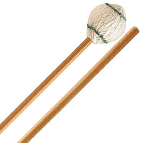 Innovative Percussion Ludwig Albert Medium Signature Very Soft Marimba Mallets with Rattan Shafts