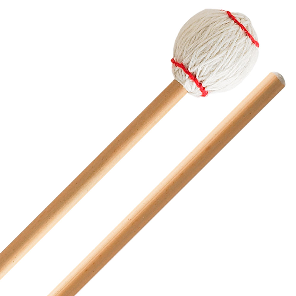 Innovative Percussion Ludwig Albert Signature Medium Hard Marimba Mallets with Rattan Shafts