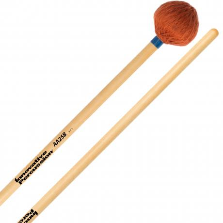 Innovative Percussion AA25B Medium Marimba/Vibraphone Mallets with Birch Handles