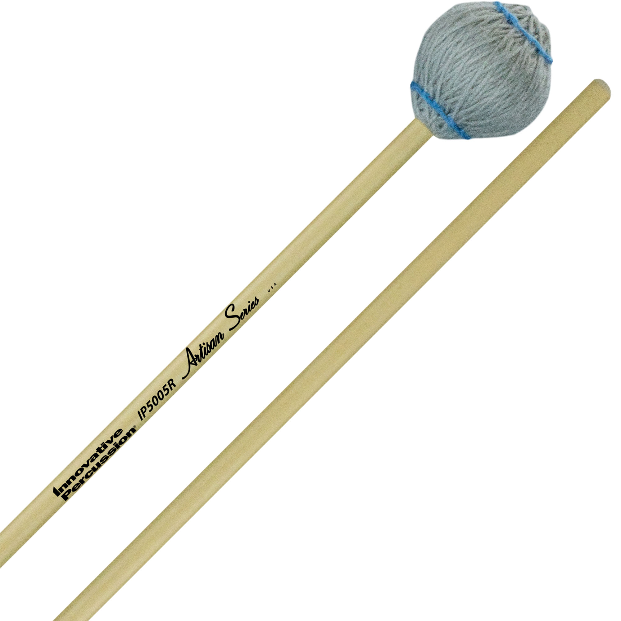 Innovative Percussion Artisan Series Hard Marimba Mallets with Rattan Handles