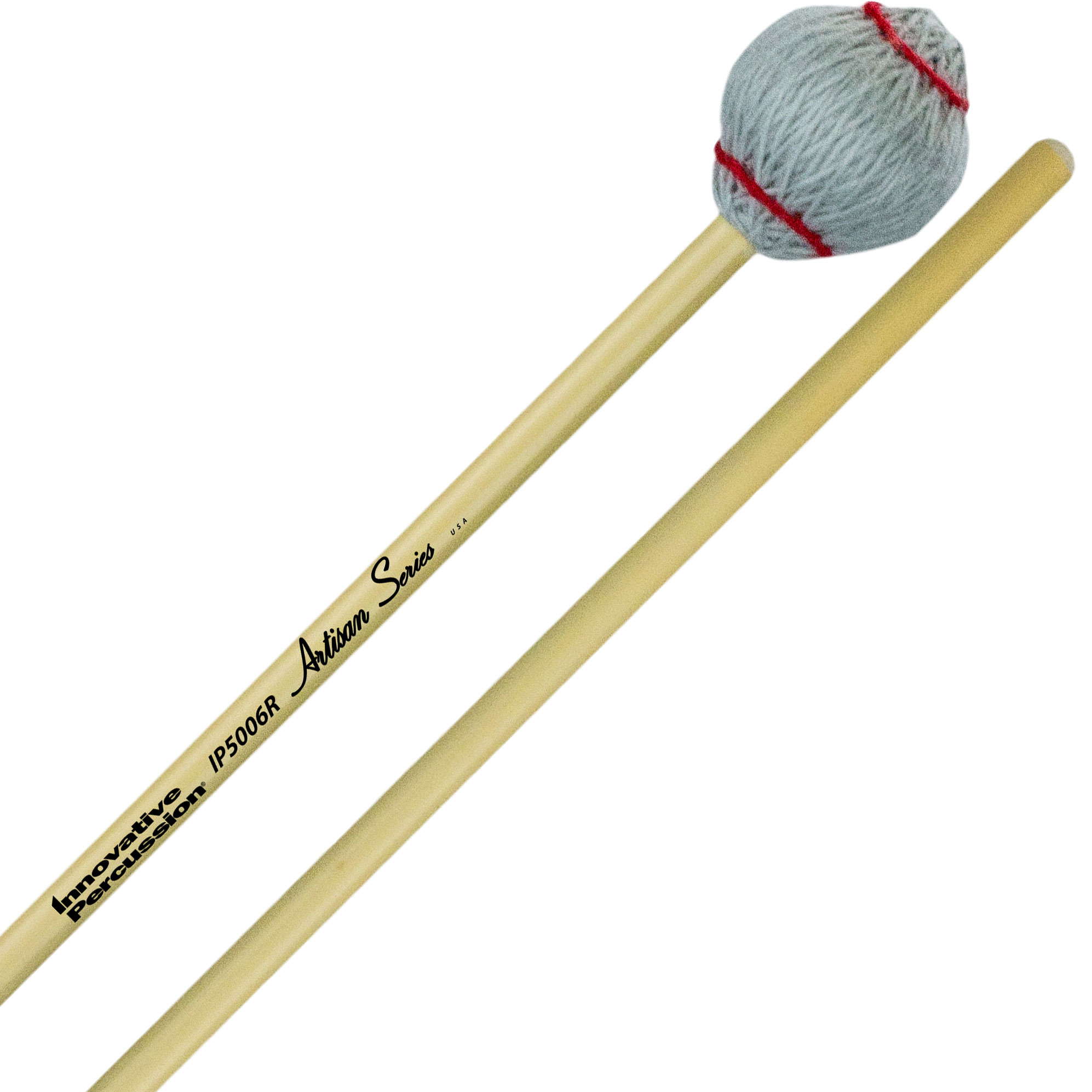 Innovative Percussion Artisan Series Very Hard Marimba Mallets with Rattan Handles