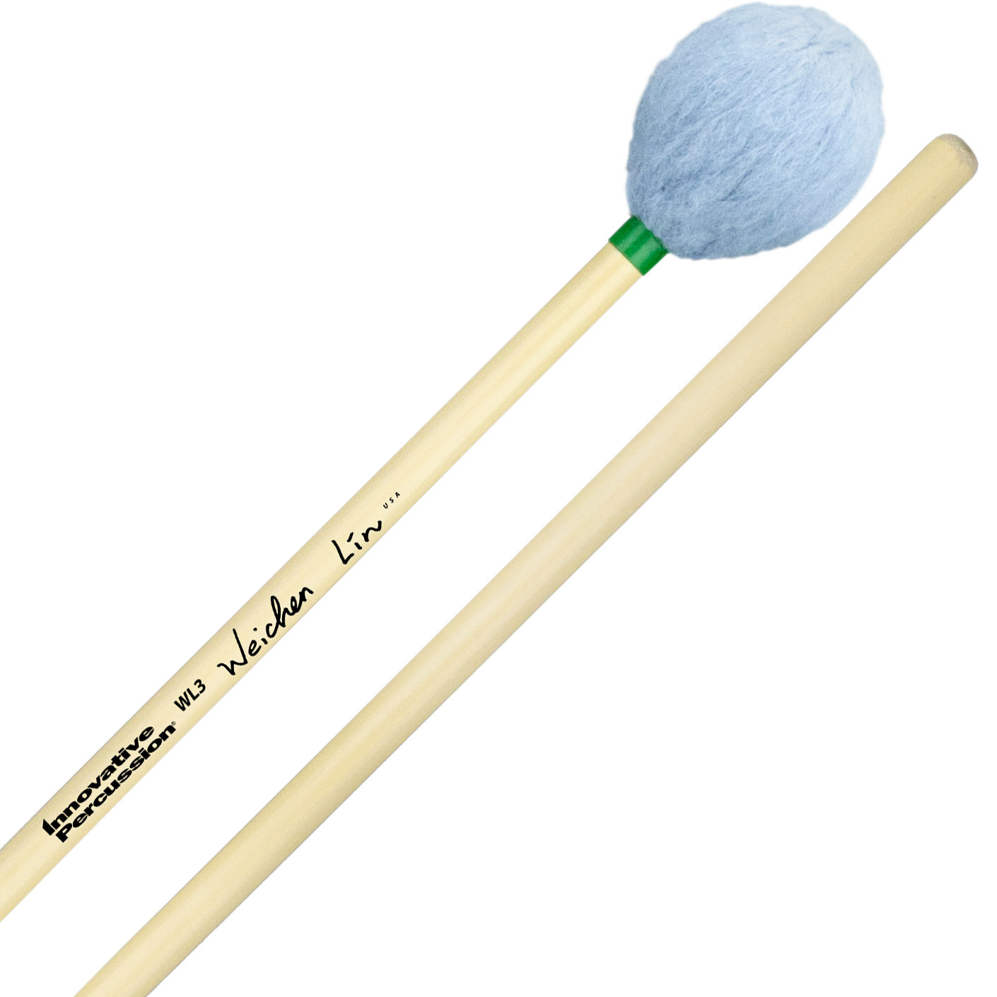 Innovative Percussion Wei-Chen Lin Signature Medium Soft Marimba Mallets with Rattan Handles