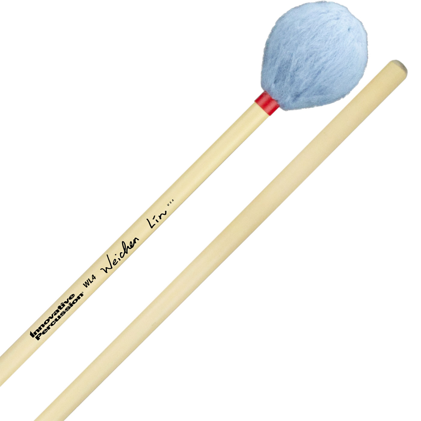 Innovative Percussion Wei-Chen Lin Signature Medium Marimba Mallets with Rattan Handles