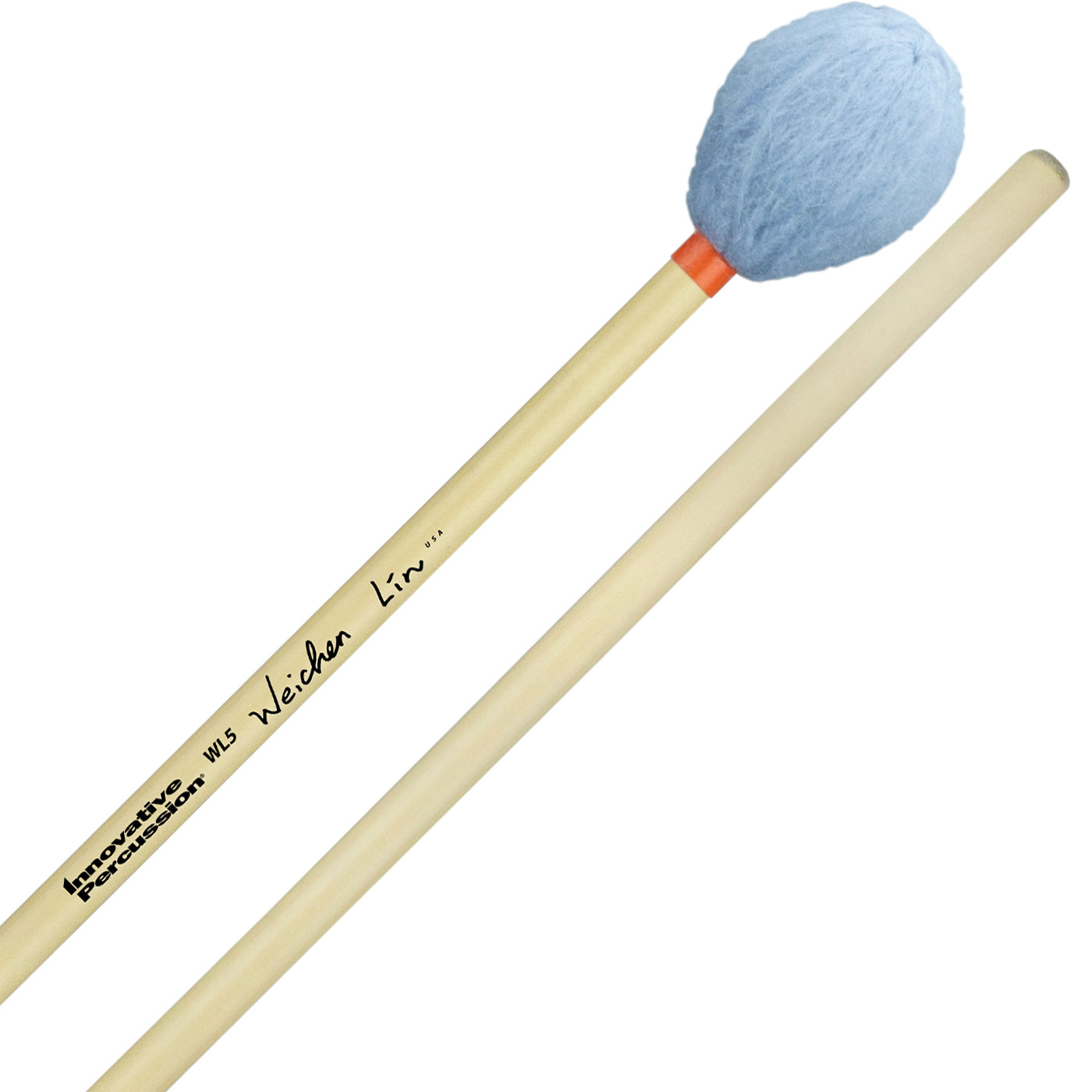 Innovative Percussion Wei-Chen Lin Signature Medium Hard Marimba Mallets with Rattan Handles
