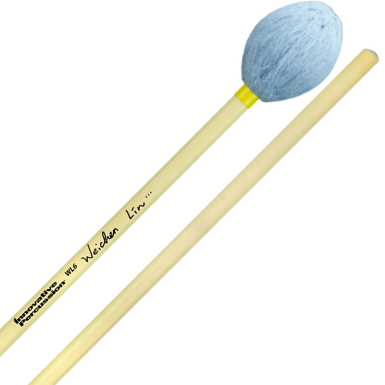 Innovative Percussion Wei-Chen Lin Signature Hard Marimba Mallets with Rattan Handles