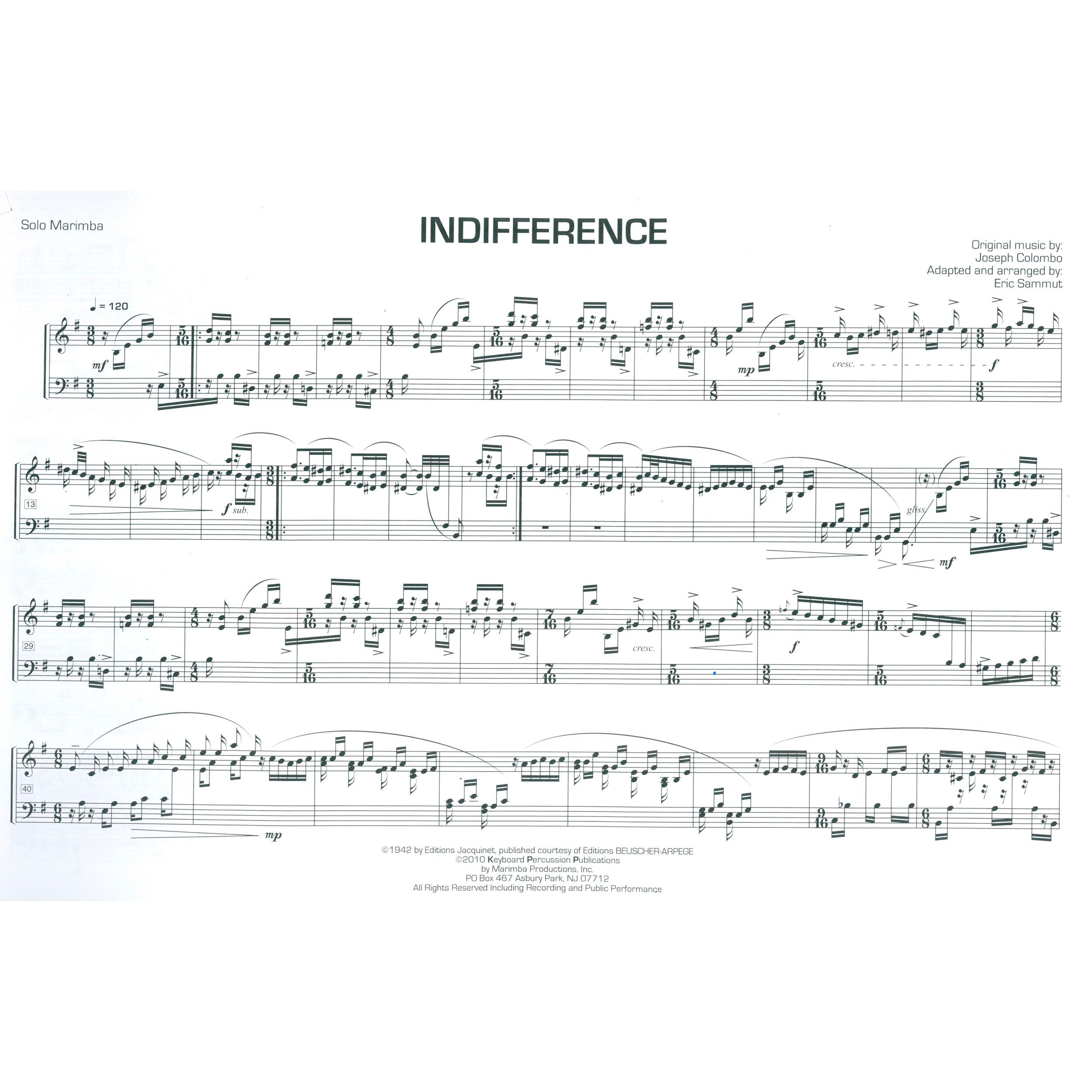 Indifference Sheet Music Epic Sheet Music
