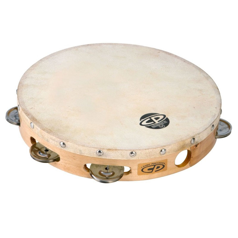"Cosmic Percussion 10"" Single-Row Steel Tambourine (Natural Head)"